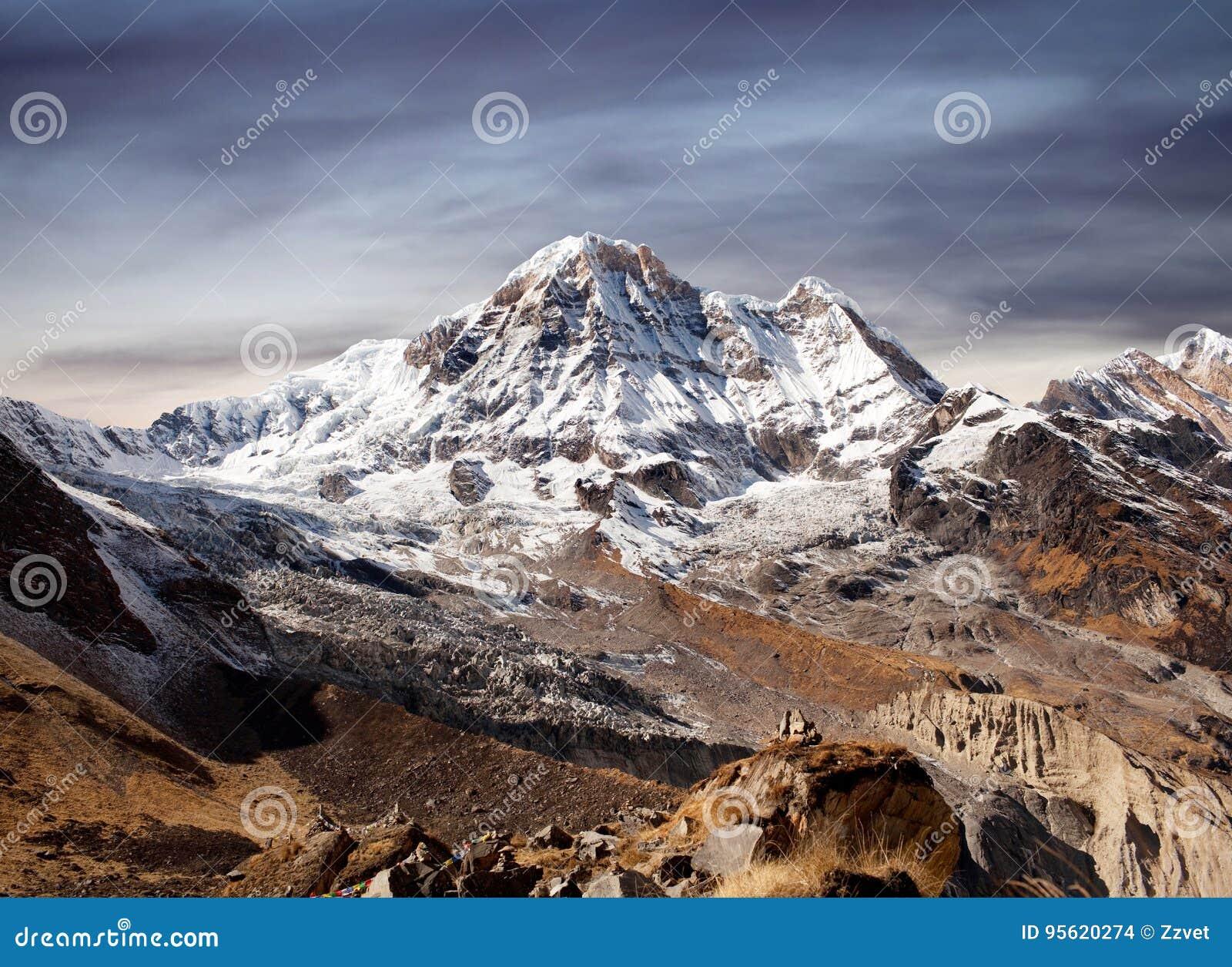 Annapurna South peak in Nepal Himalaya
