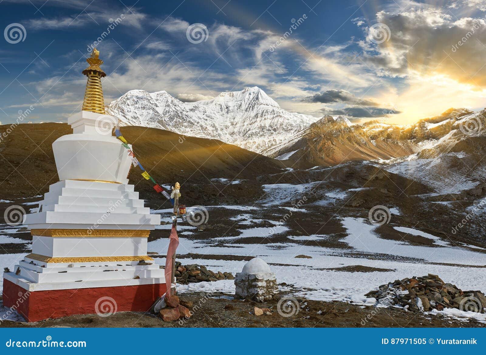 Annapurnabergen in het Himalayagebergte van Nepal