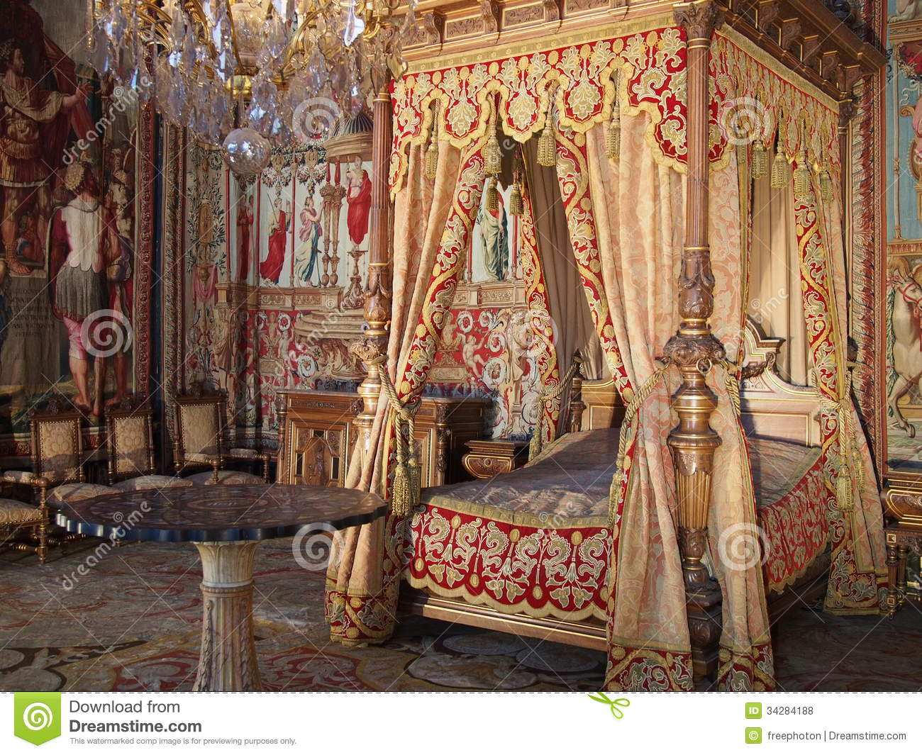 Anne Of Austria Room In Fontainebleau Castle Editorial ...