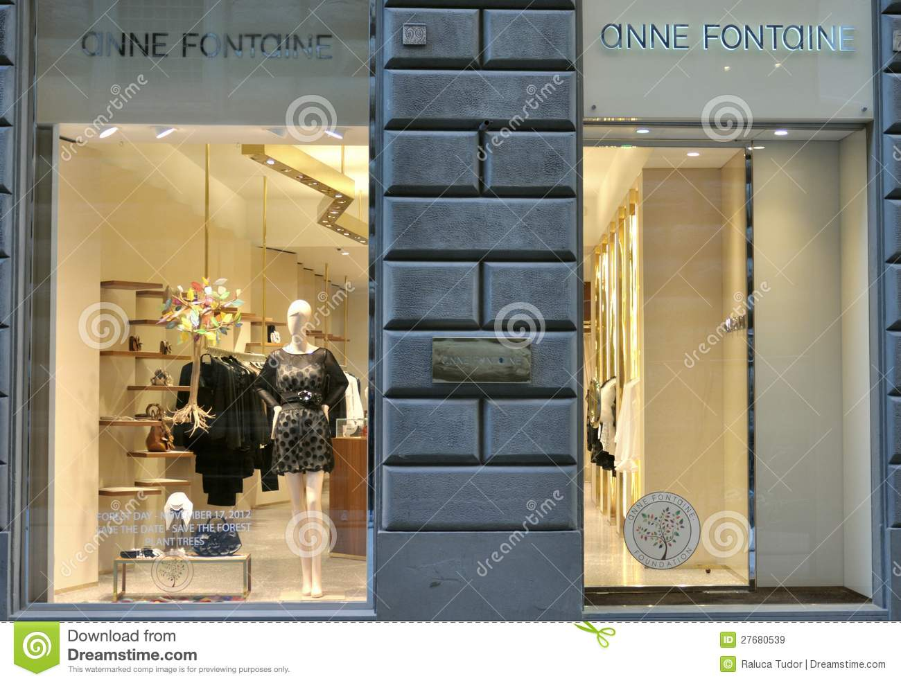 Editorial Stock Image: Anne Fontaine luxury fashion store in Italy
