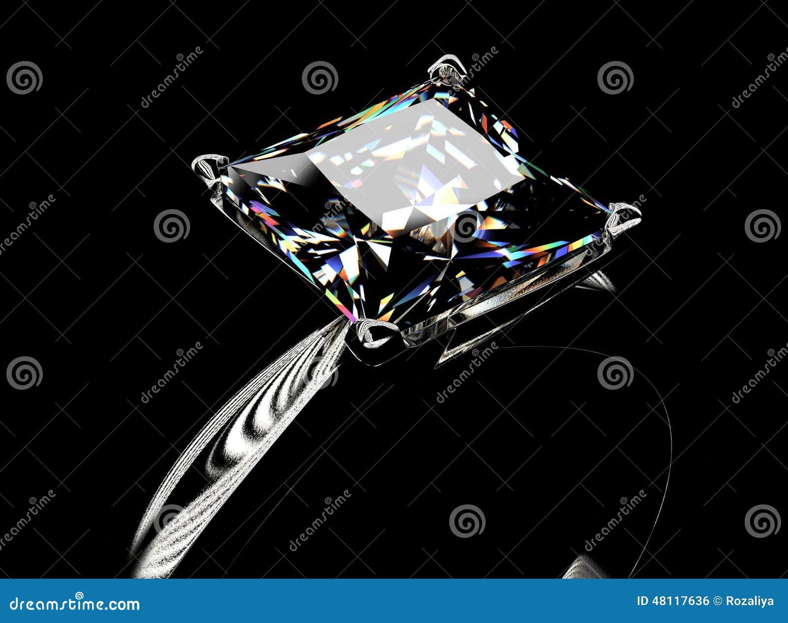 Anneau avec le diamant Fond de bijoux de mode