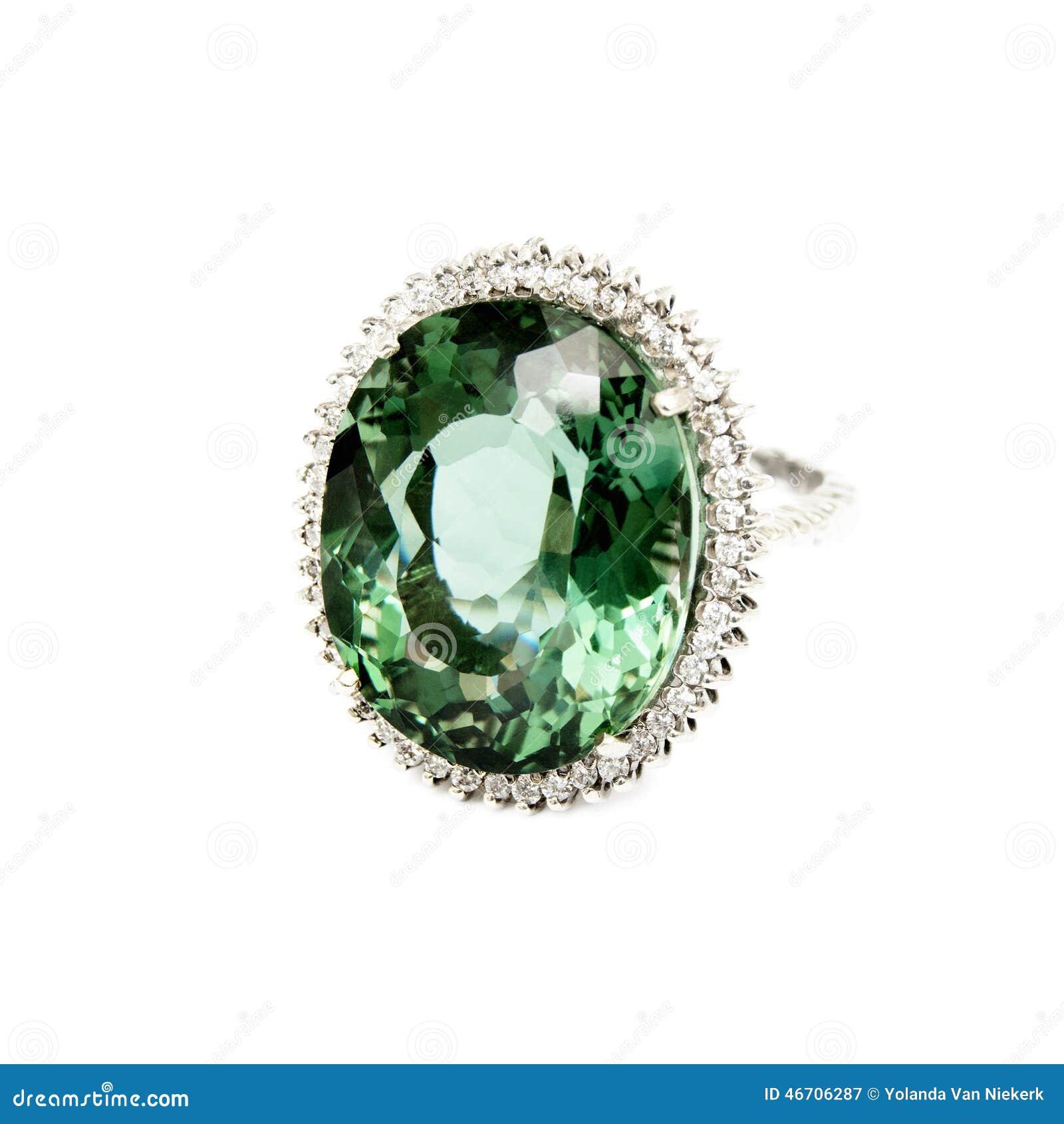 anneau pierre gemme semi pr cieuse verte avec des. Black Bedroom Furniture Sets. Home Design Ideas