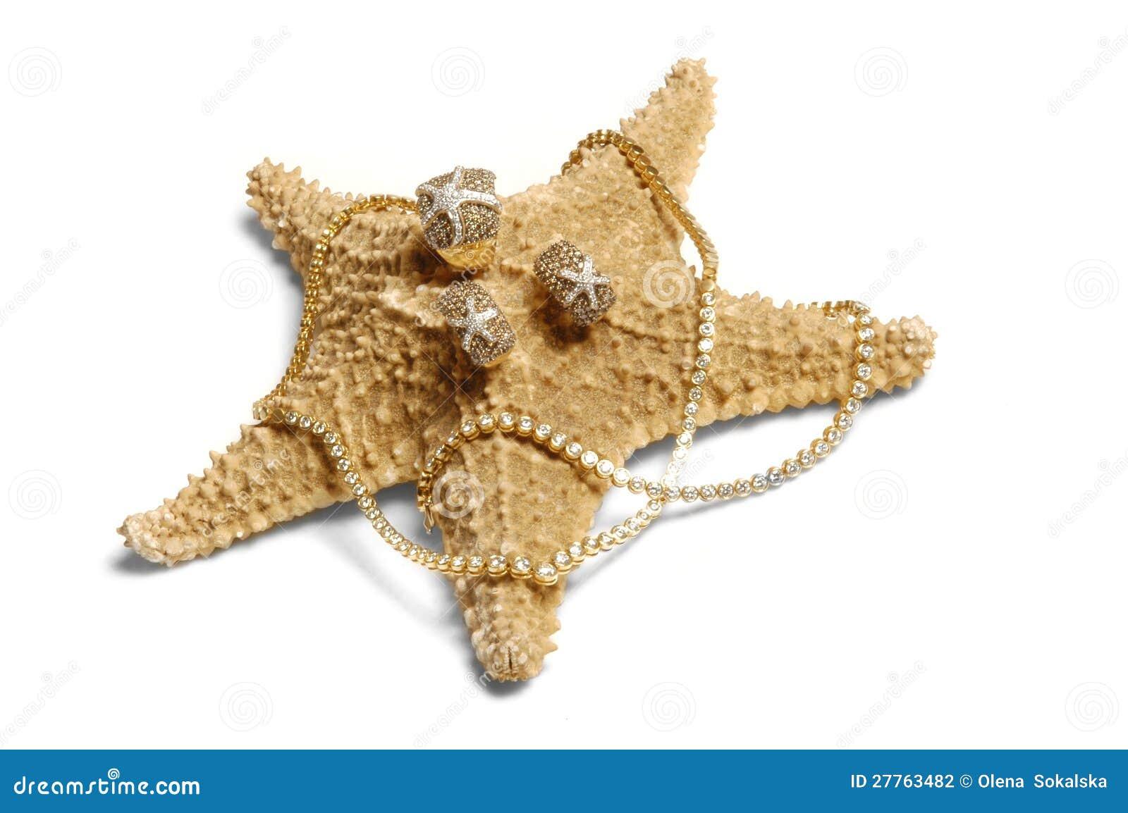 Anneau sur la mer-étoile d isolement