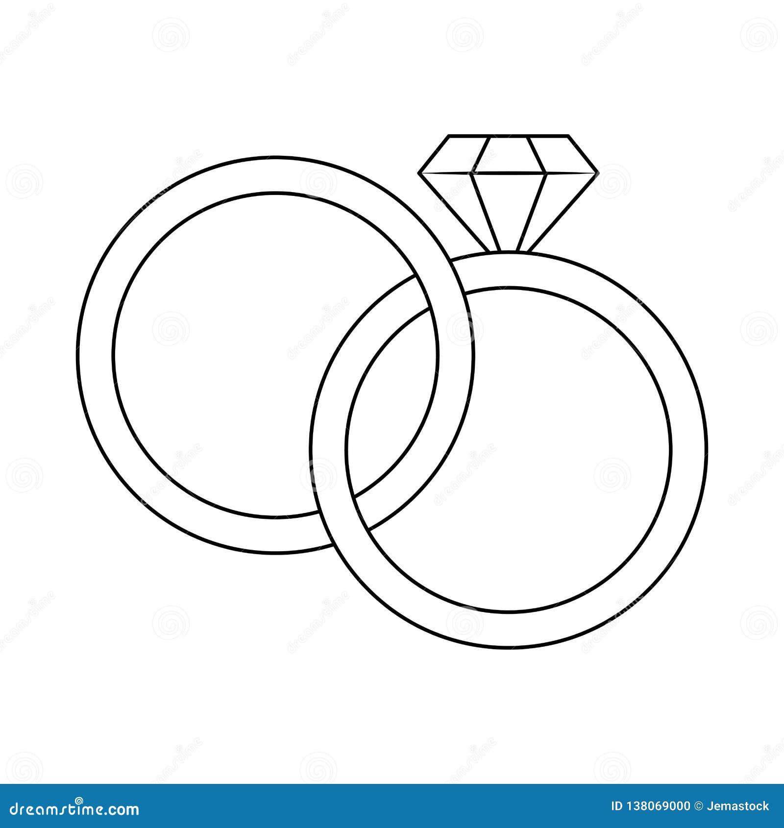 Anneaux De Mariage Avec Le Diamant Noir Et Blanc