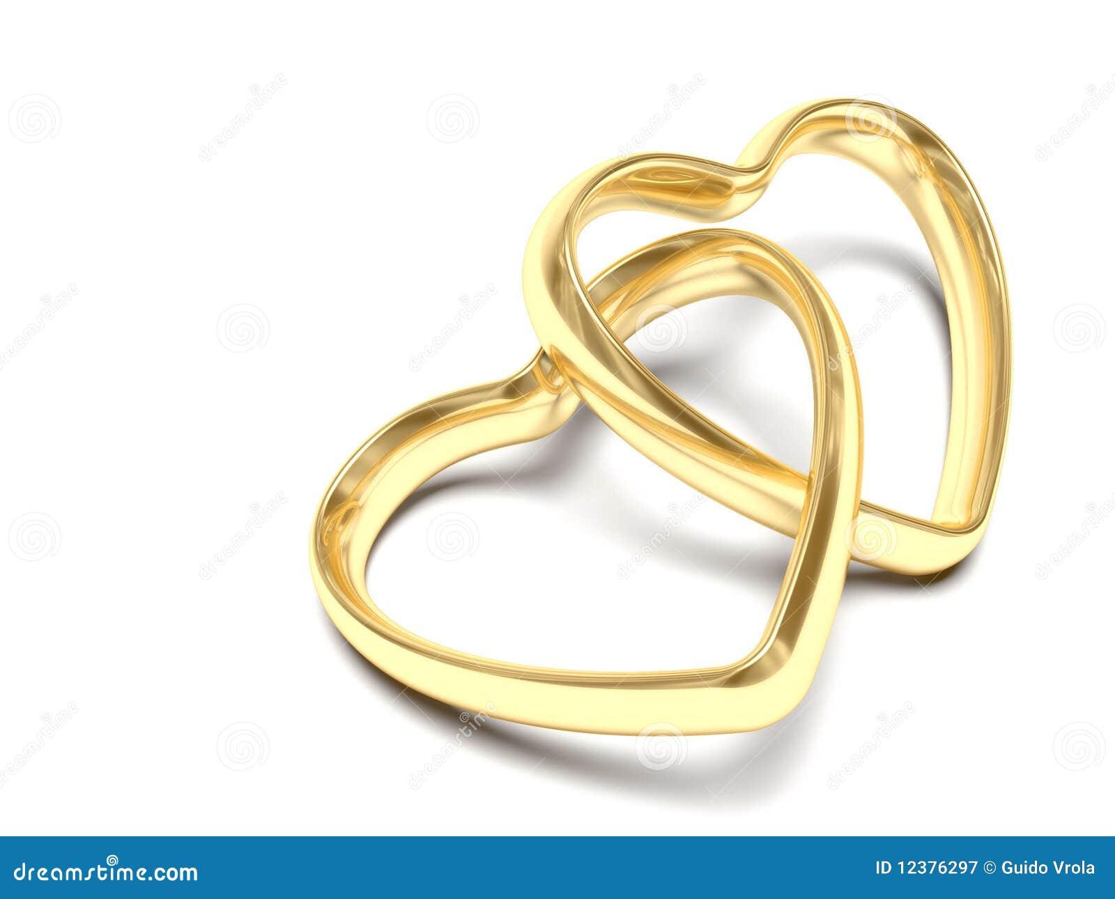 générée par ordinateur dune paire danneaux de mariage en forme de ...