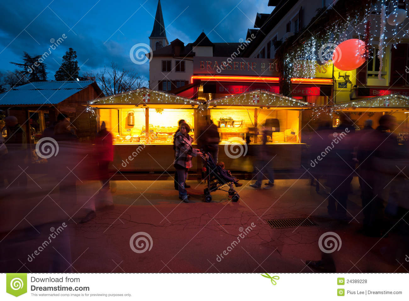 annecy christmas market chalet editorial stock photo image 24389228. Black Bedroom Furniture Sets. Home Design Ideas