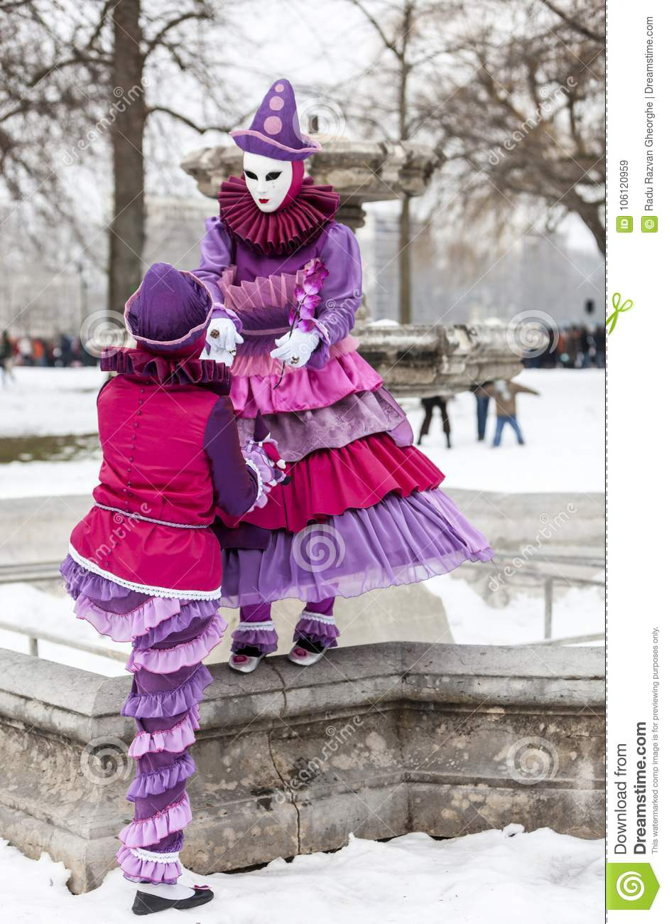 Disguised Couple - Annecy Venetian Carnival 2013