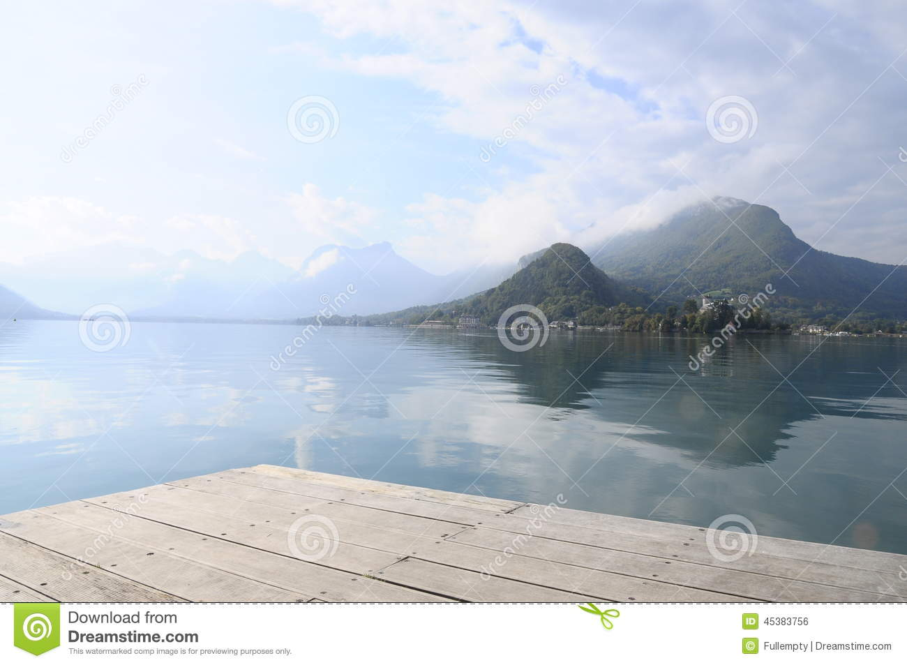 Annecy lake at Talloires, France