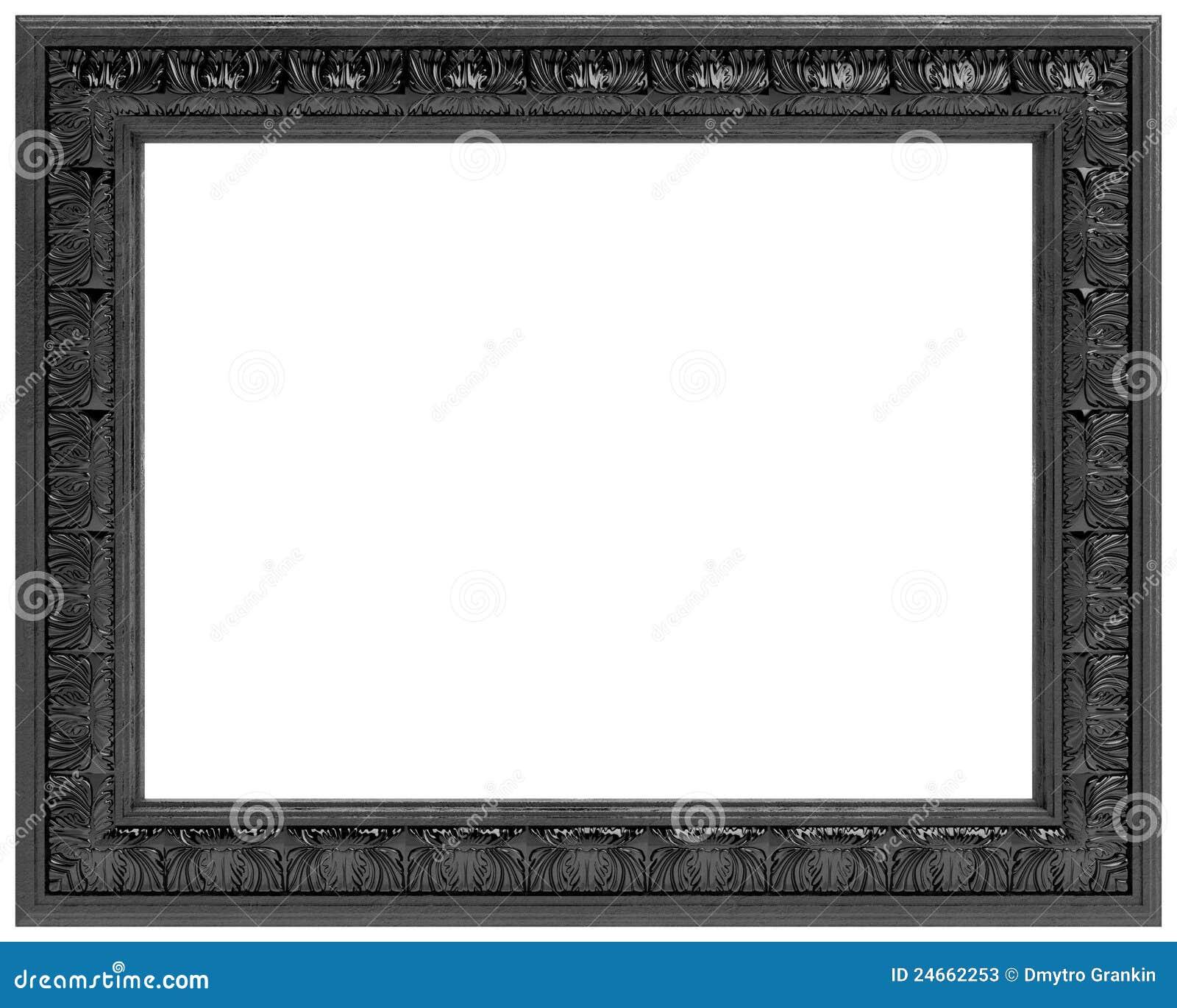 Annerisca il blocco per grafici intagliato per uno - Specchio cornice nera ...