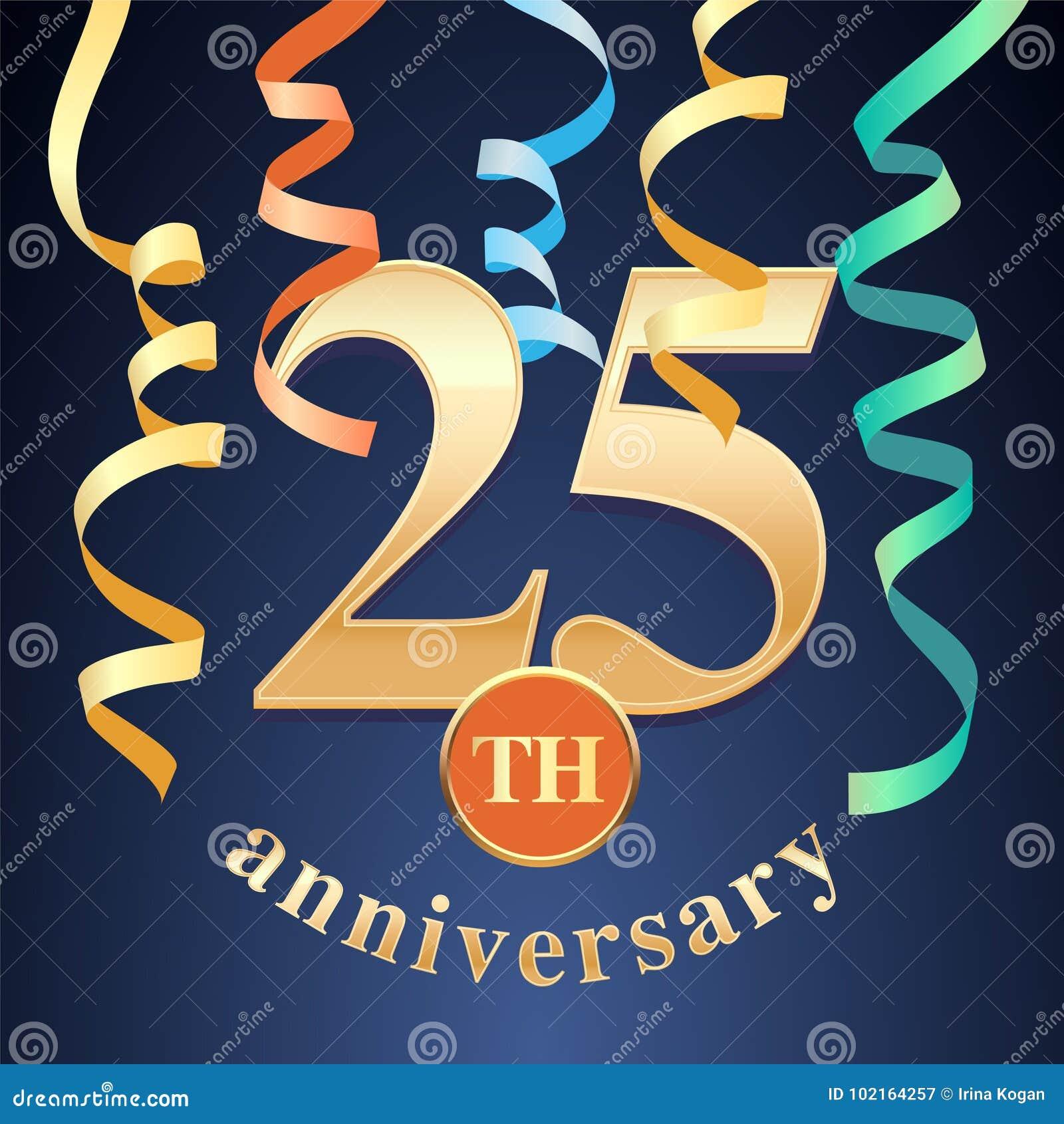 25 anni di anniversario di celebrazione di icona di vettore, logo