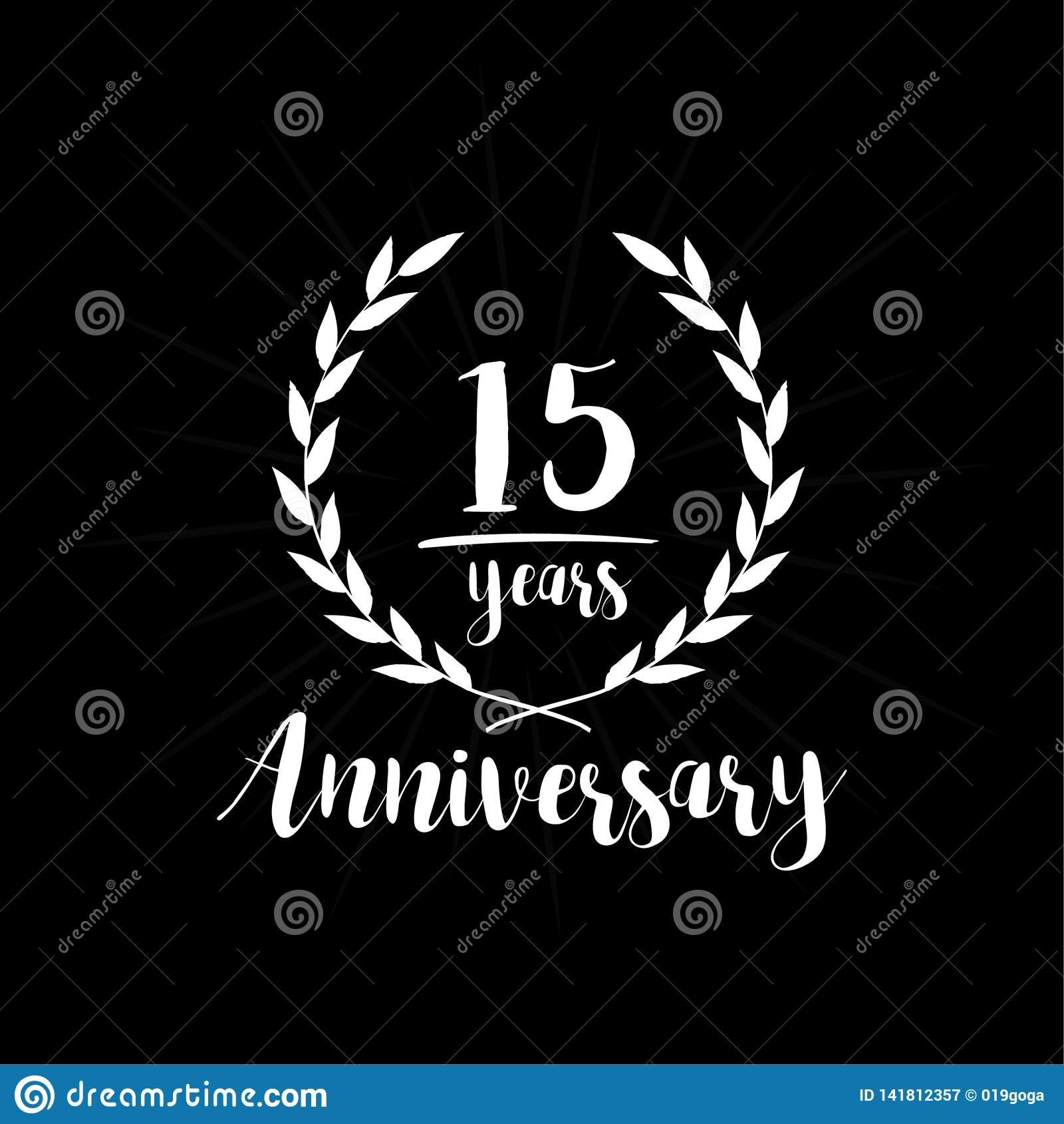 15 anni di anniversario di modello di progettazione Quindici anni di anniversario che celebra il modello di progettazione