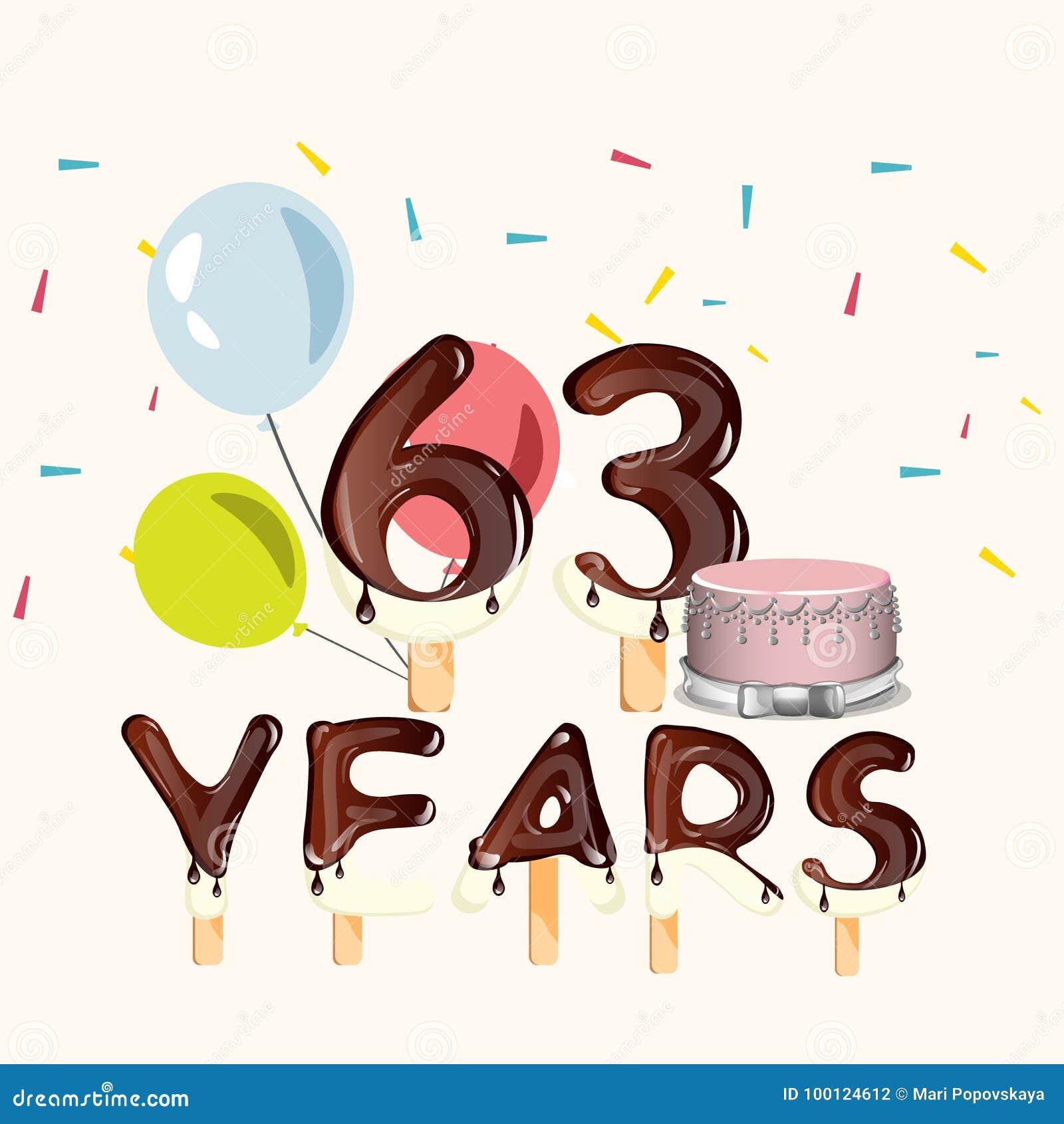 63 Anni Di Biglietto Di Auguri Per Il Compleanno Felice