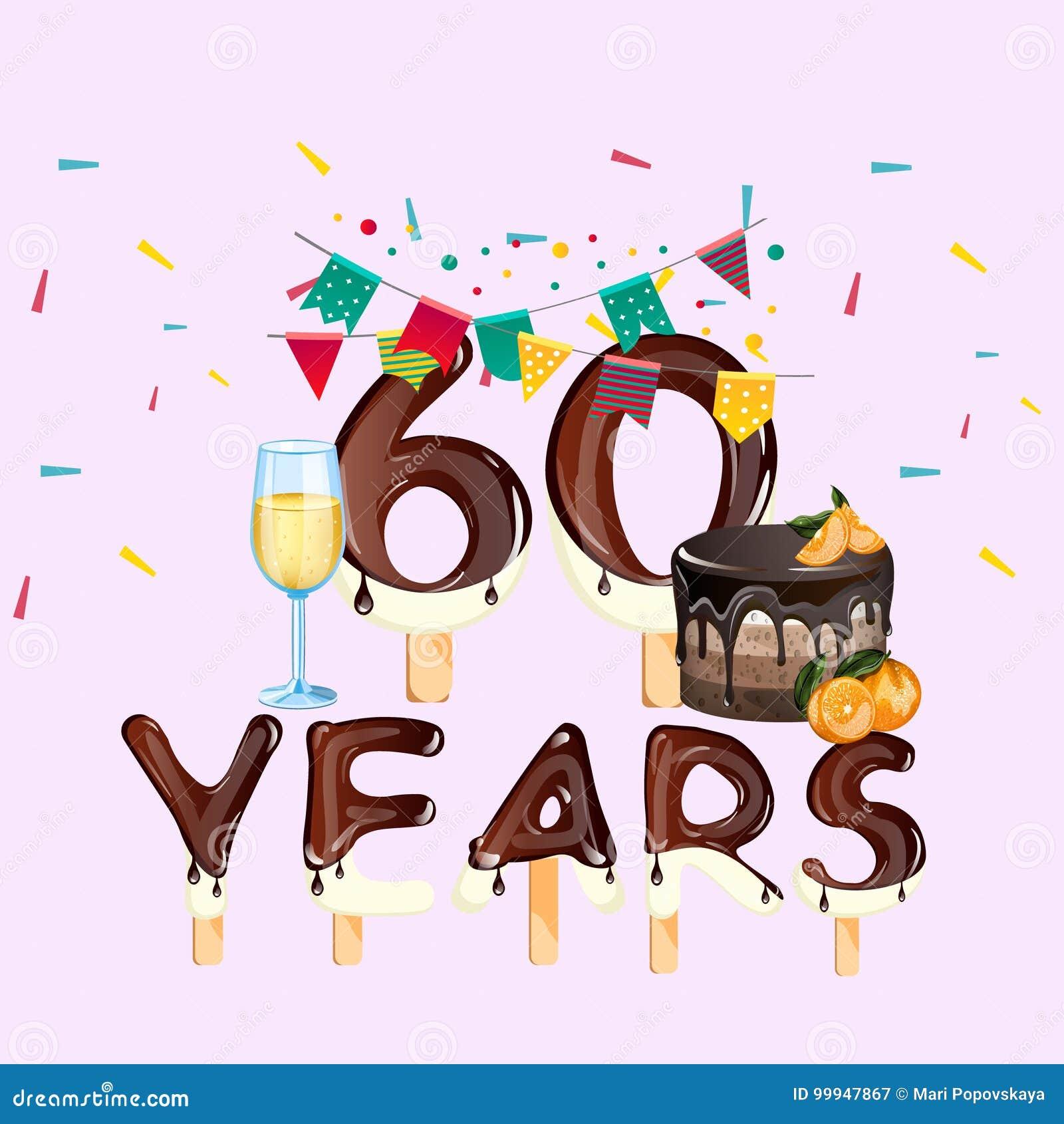 60 Anni Di Biglietto Di Auguri Per Il Compleanno Felice