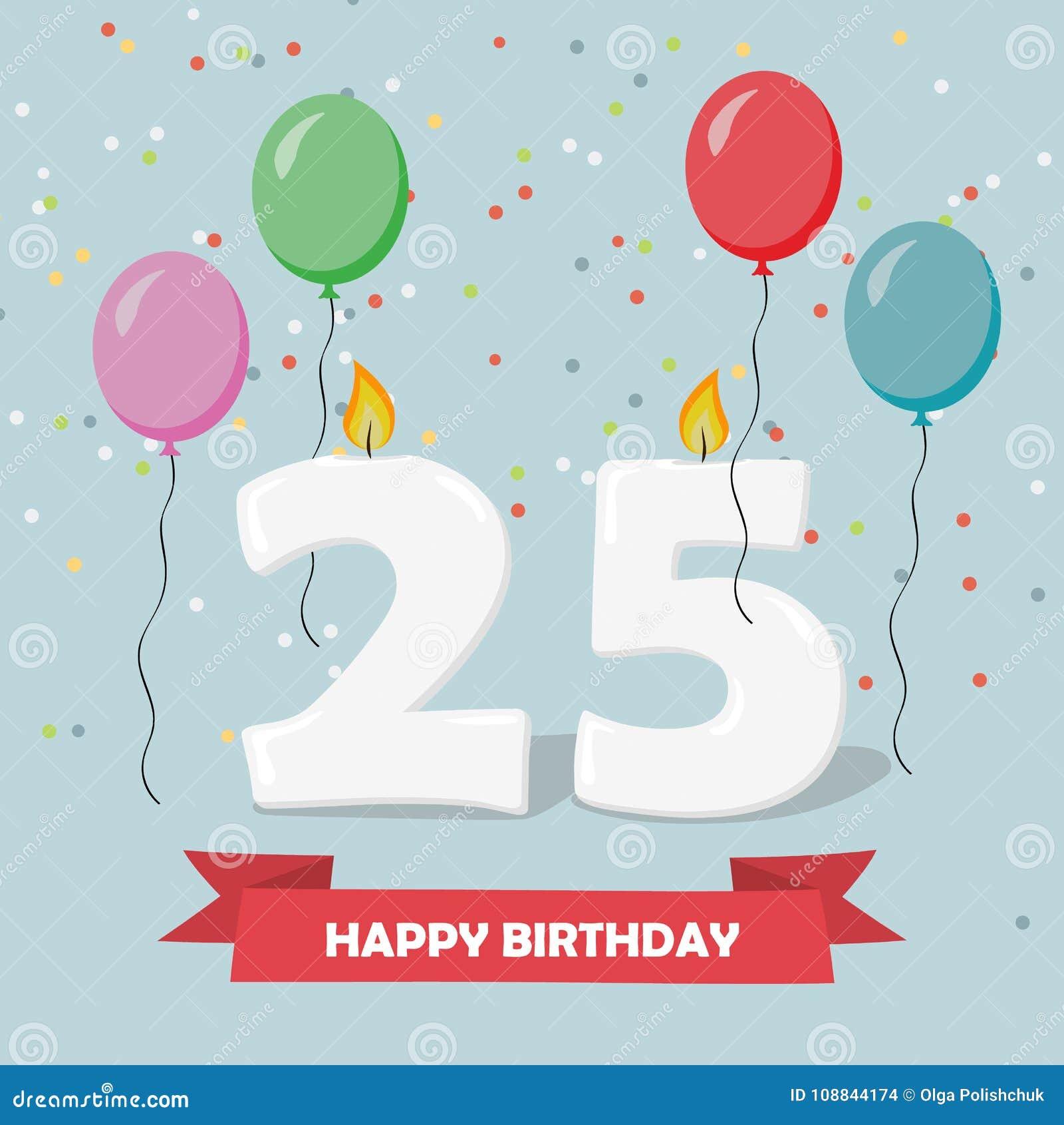 Favorito 25 Anni Di Fondo Di Celebration Cartolina D'auguri Di Buon UF53