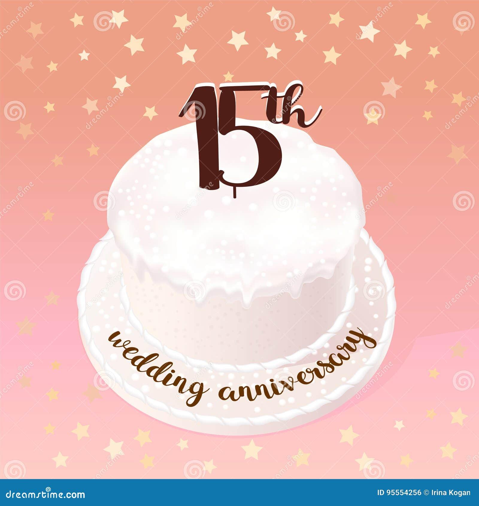 Anniversario Di Matrimonio 15 Anni.15 Anni Di Icona Di Vettore Di Matrimonio O Di Nozze