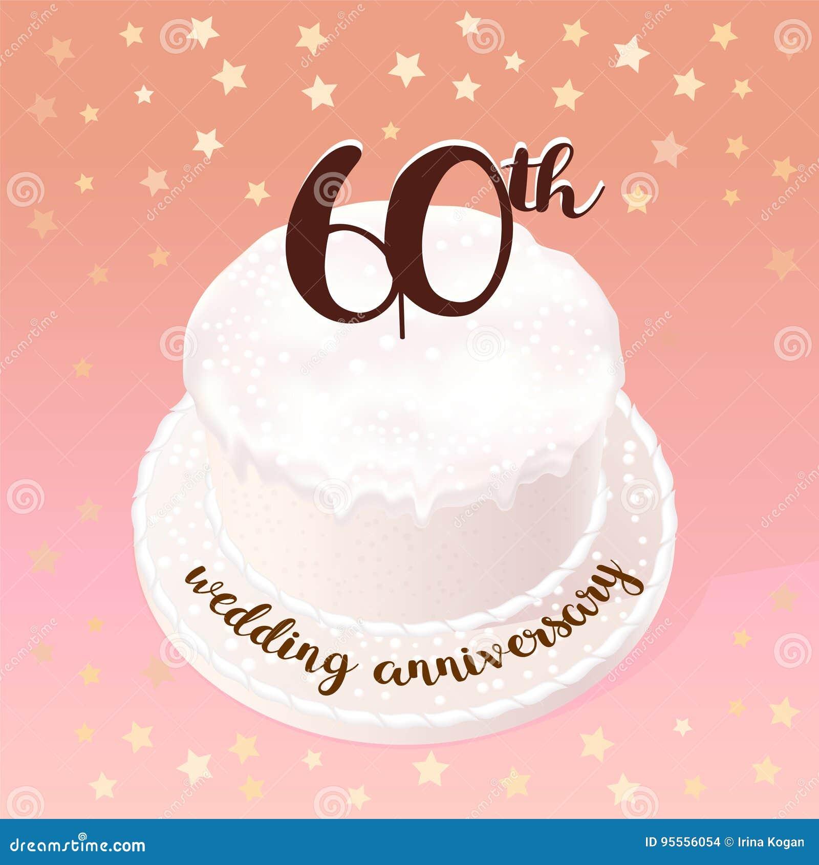 Anniversario 60 Anni Matrimonio.60 Anni Di Icona Di Vettore Di Matrimonio O Di Nozze