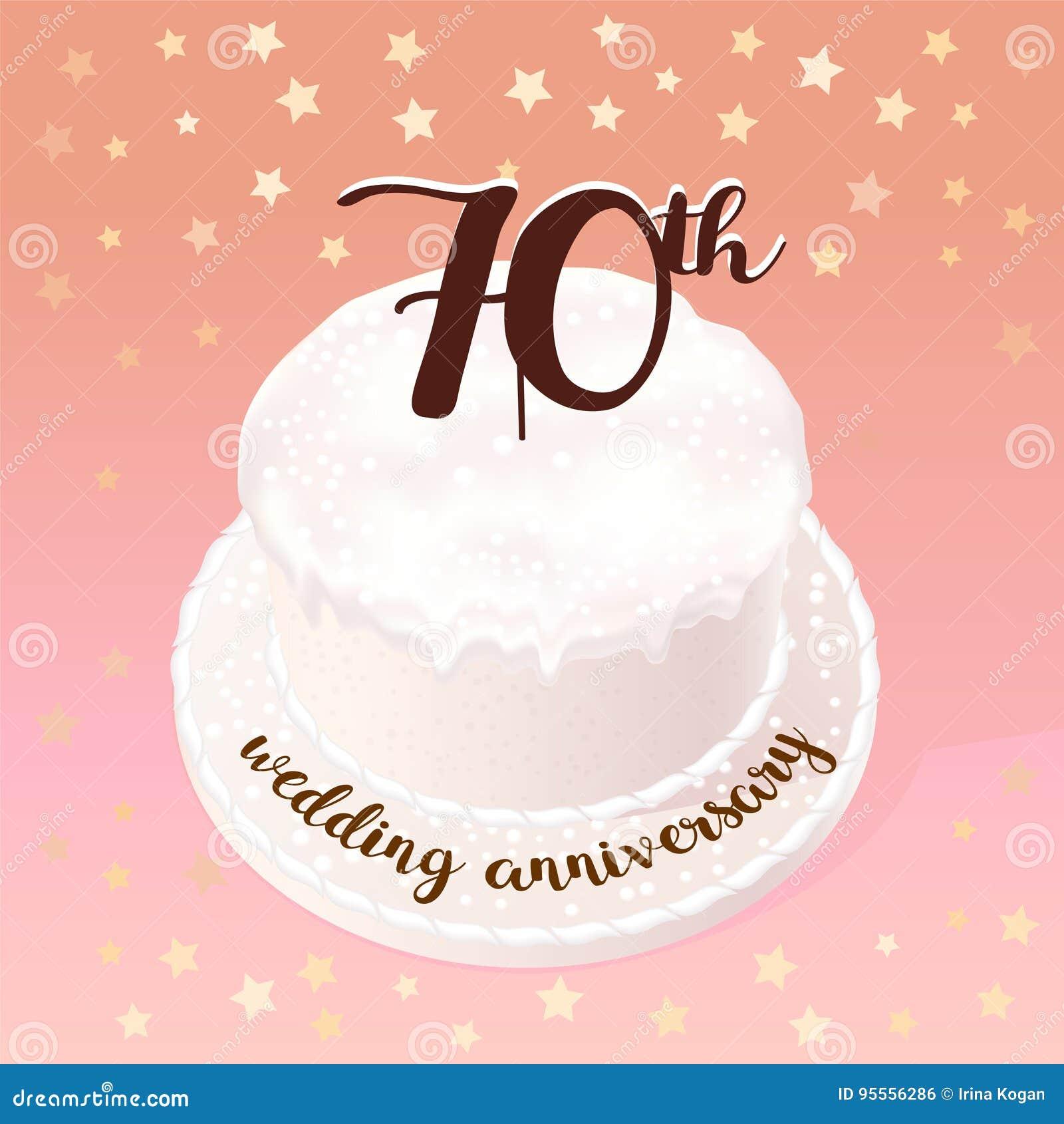 70 Anniversario Di Matrimonio.70 Anni Di Icona Di Vettore Di Matrimonio O Di Nozze