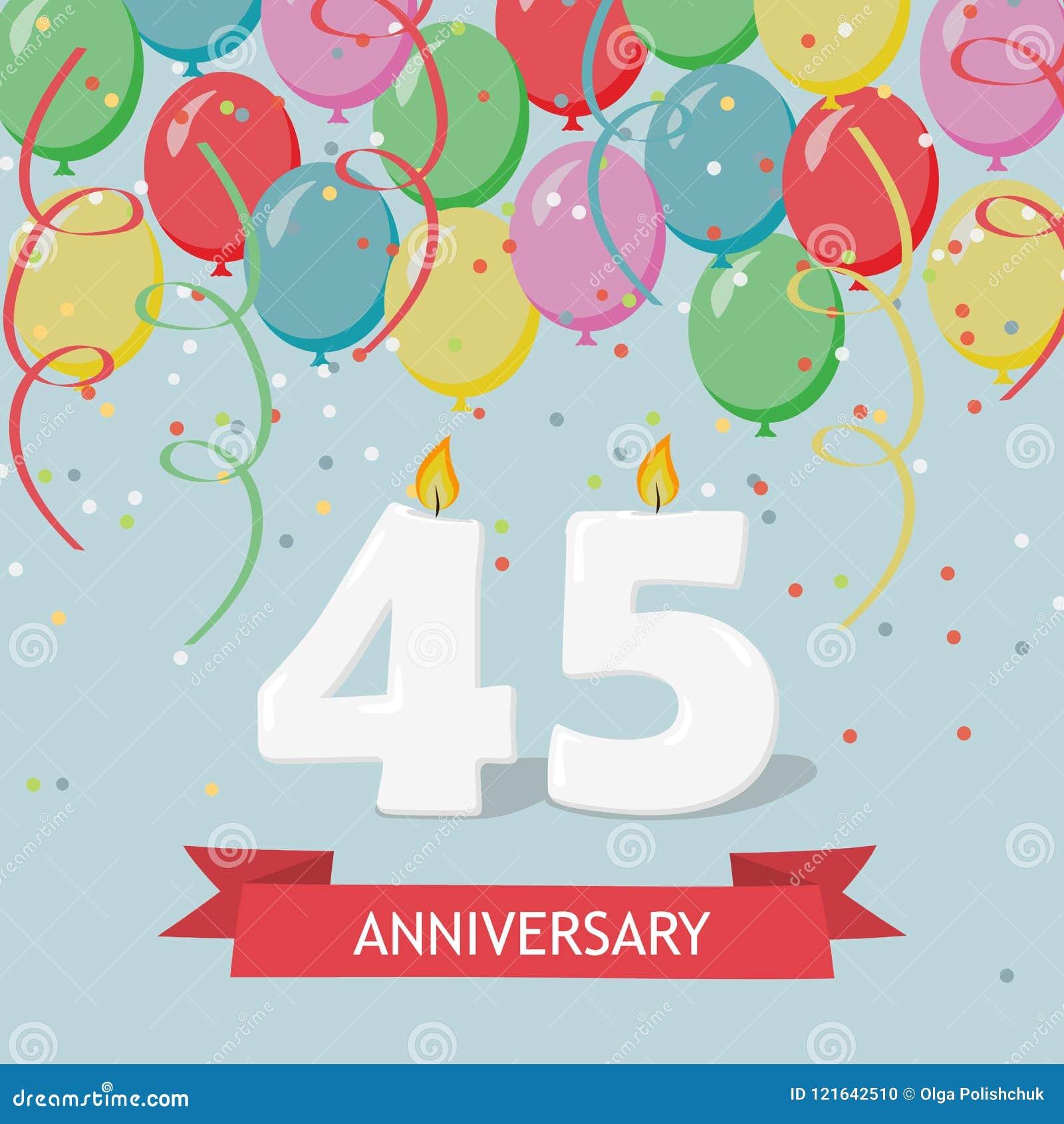 Auguri Buon Compleanno 45.45 Anni Di Selebration Cartolina D Auguri Di Buon Compleanno