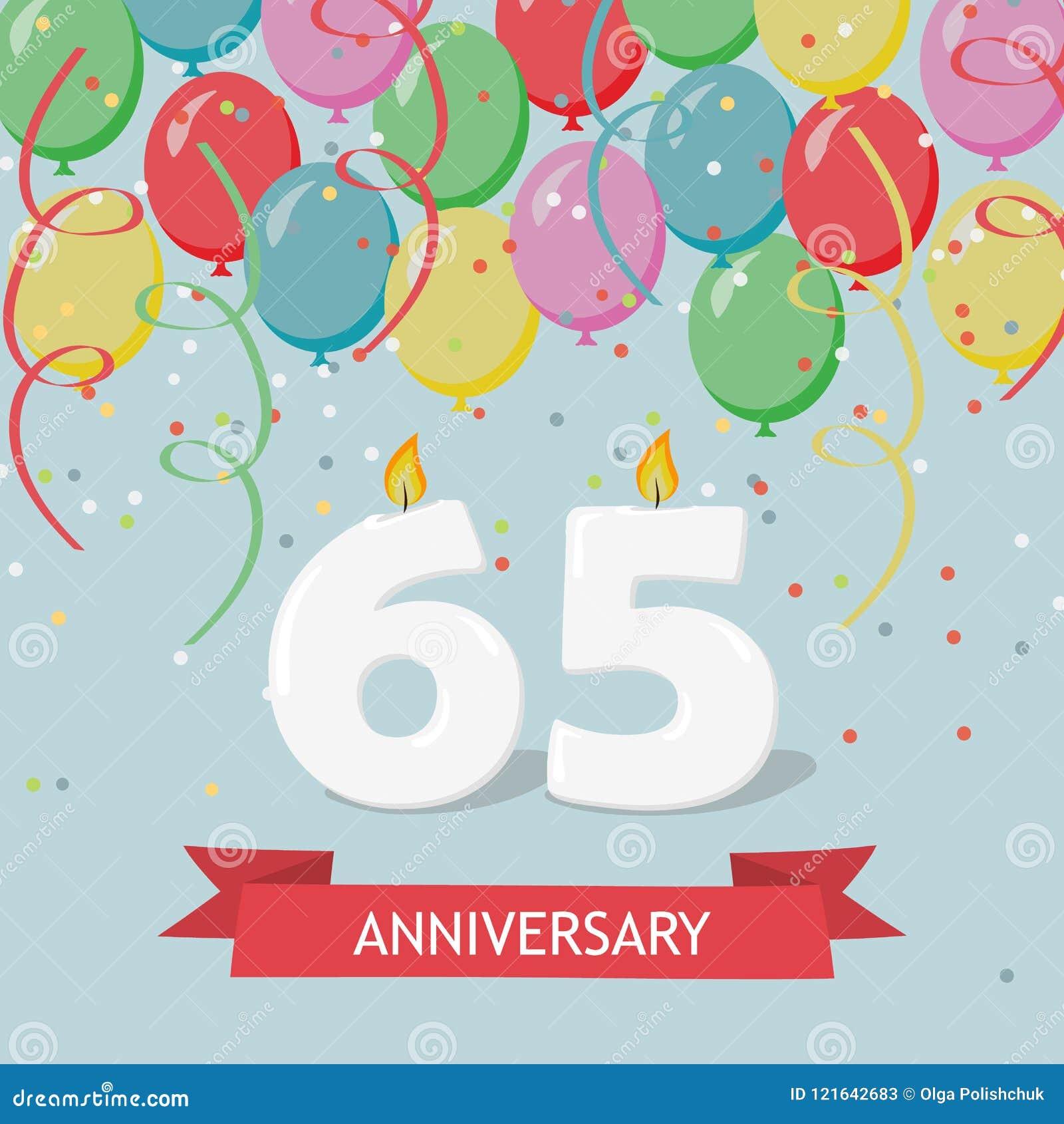 Auguri Di Buon Compleanno 65 Anni.65 Anni Di Selebration Cartolina D Auguri Di Buon Compleanno