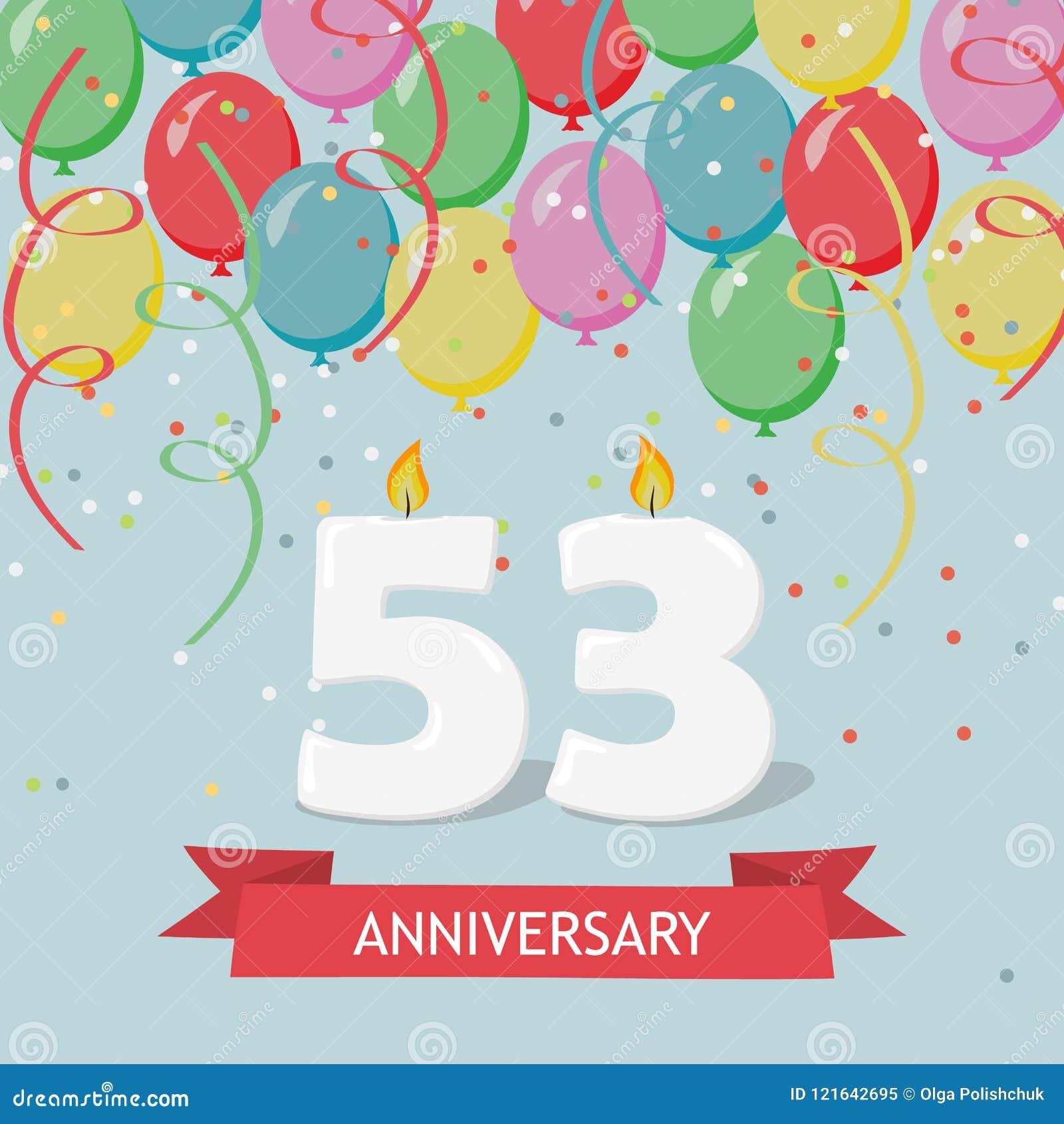 Auguri Buon Compleanno 53 Anni.53 Anni Di Selebration Cartolina D Auguri Di Buon Compleanno