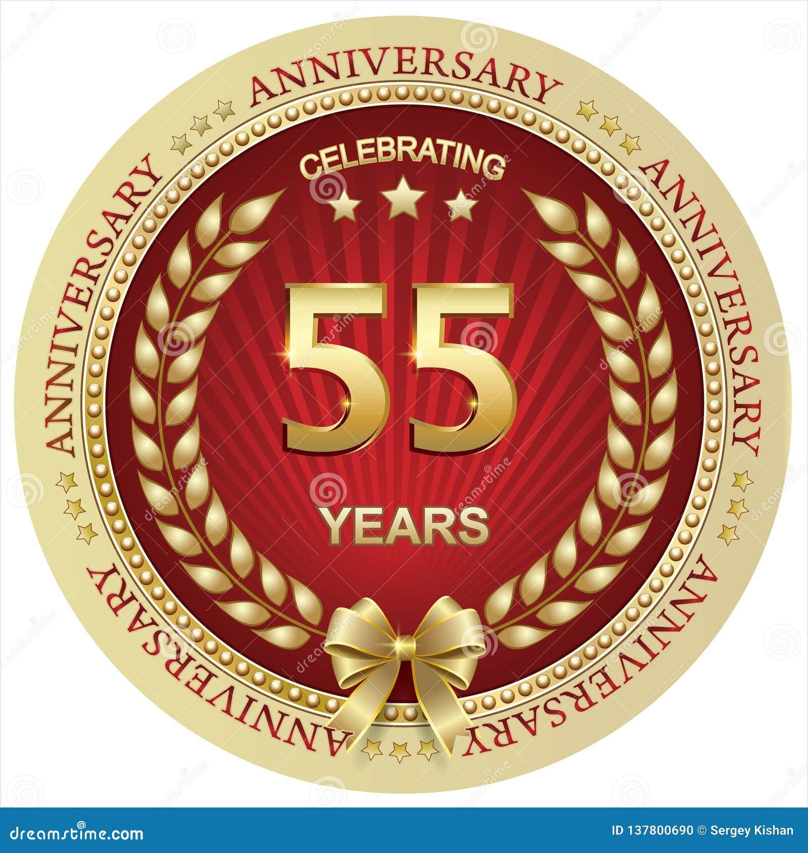 Auguri Buon Compleanno 55 Anni.Anniversario 55 Anni Compleanno Fondo Celebrazione