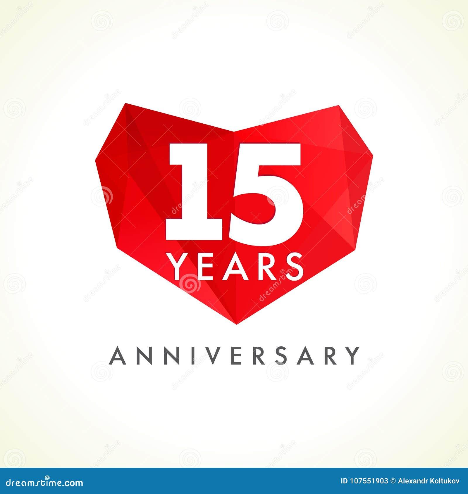 Anniversario 15 anni con cuore
