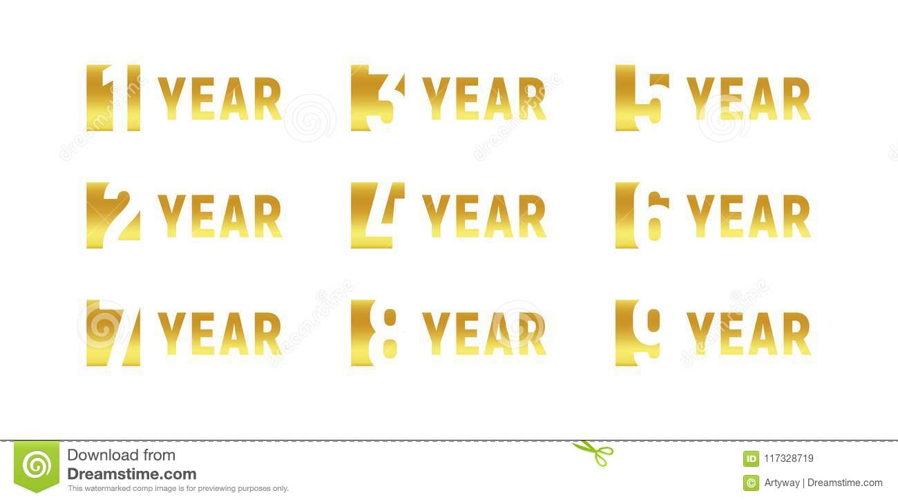 Anniversary of company gold negative space sign business birthday download anniversary of company gold negative space sign business birthday vector logo set stopboris Choice Image