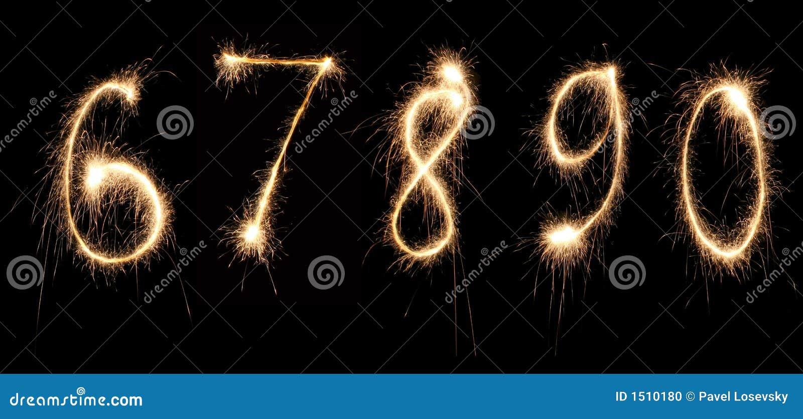 Anniversary Numbers Sparkler 2 Stock Photo