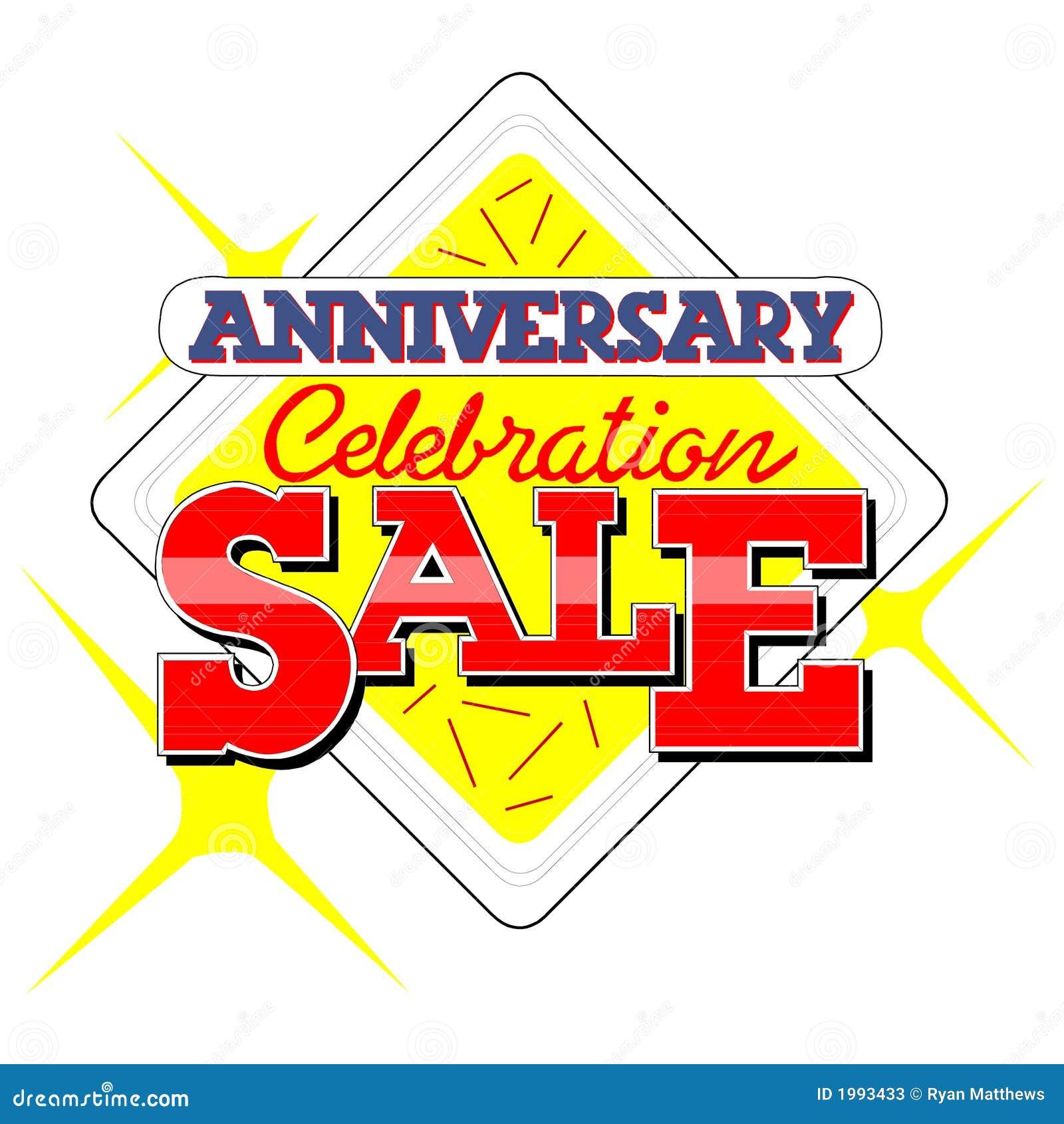 Anniversary sale heading stock photos image