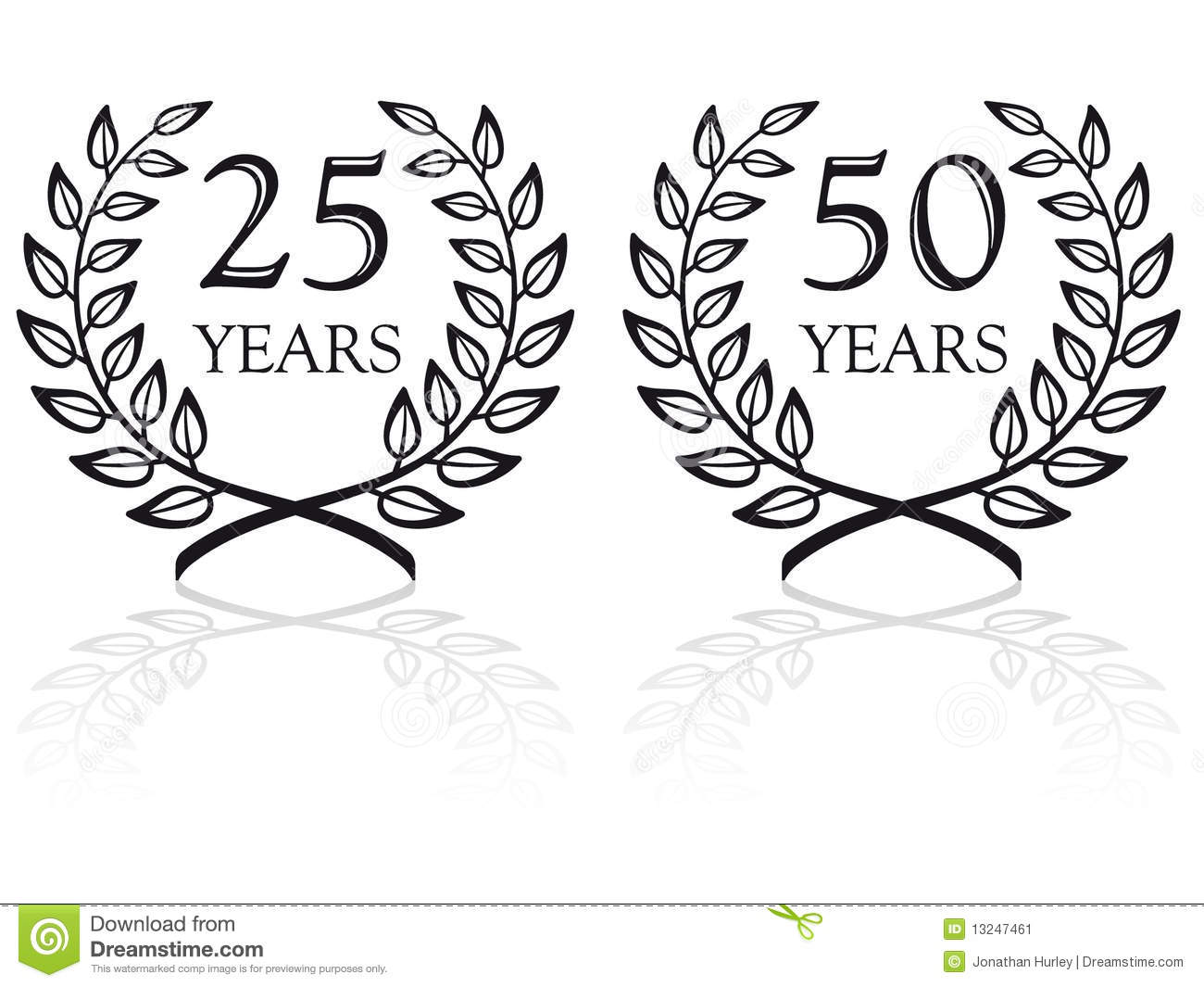 Anniversary Seals 3 Stock Image Image 13247461
