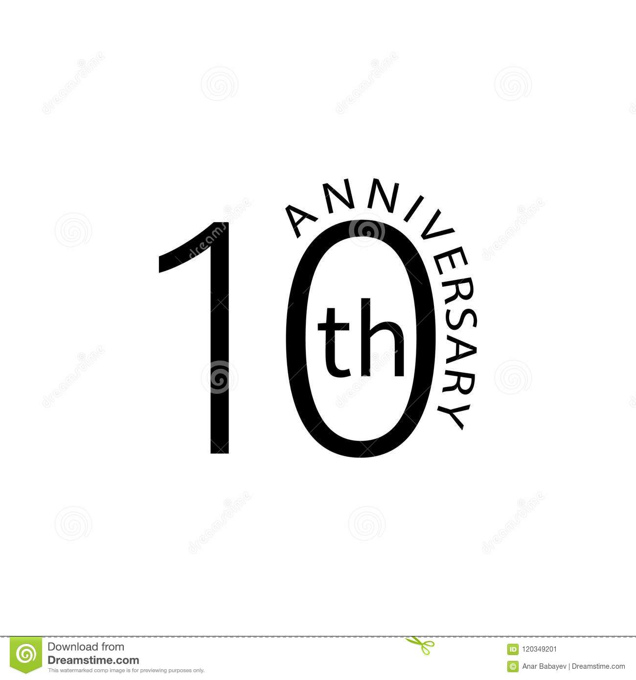 10 Anniversary Sign Element Of Anniversary Sign Premium Quality