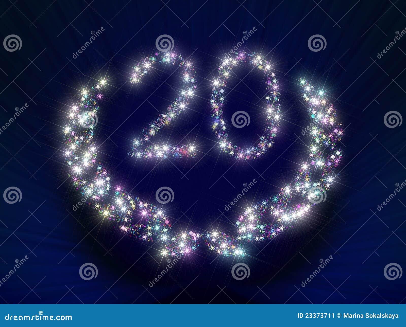 Anniversary Stars Number 20 Years Stock Image Image