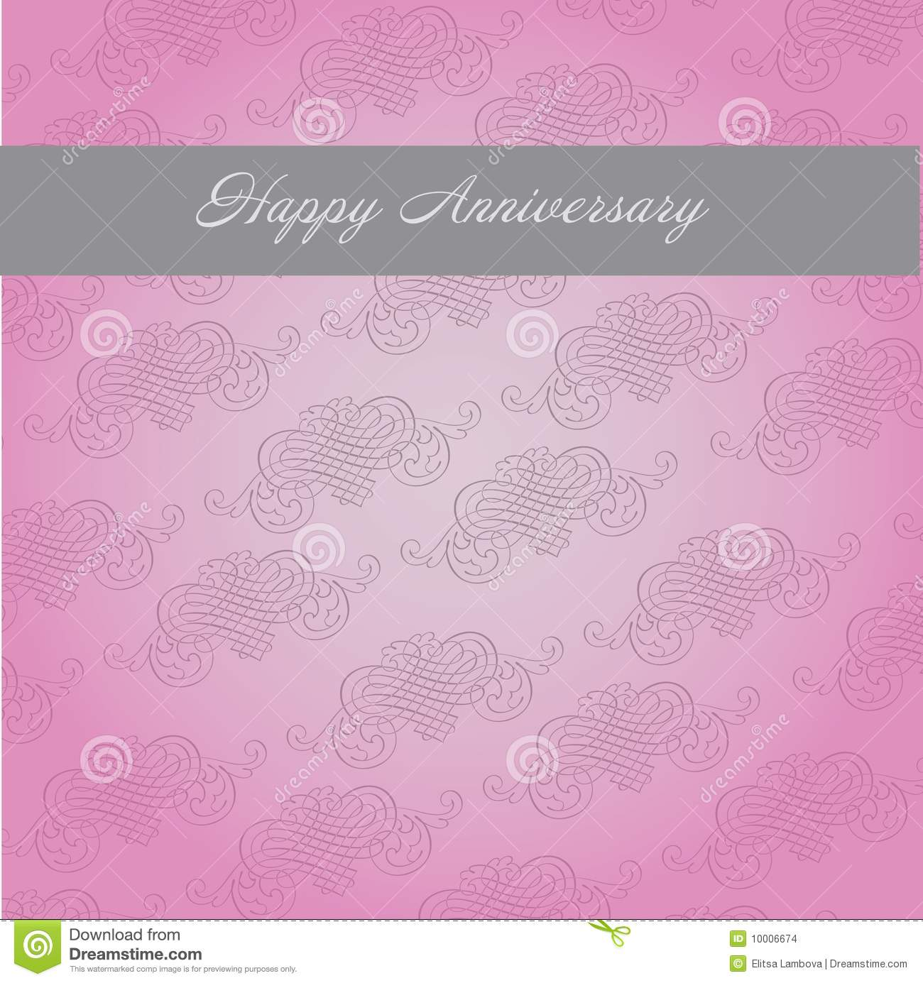 Anniversary Template Stock Images Image 10006674