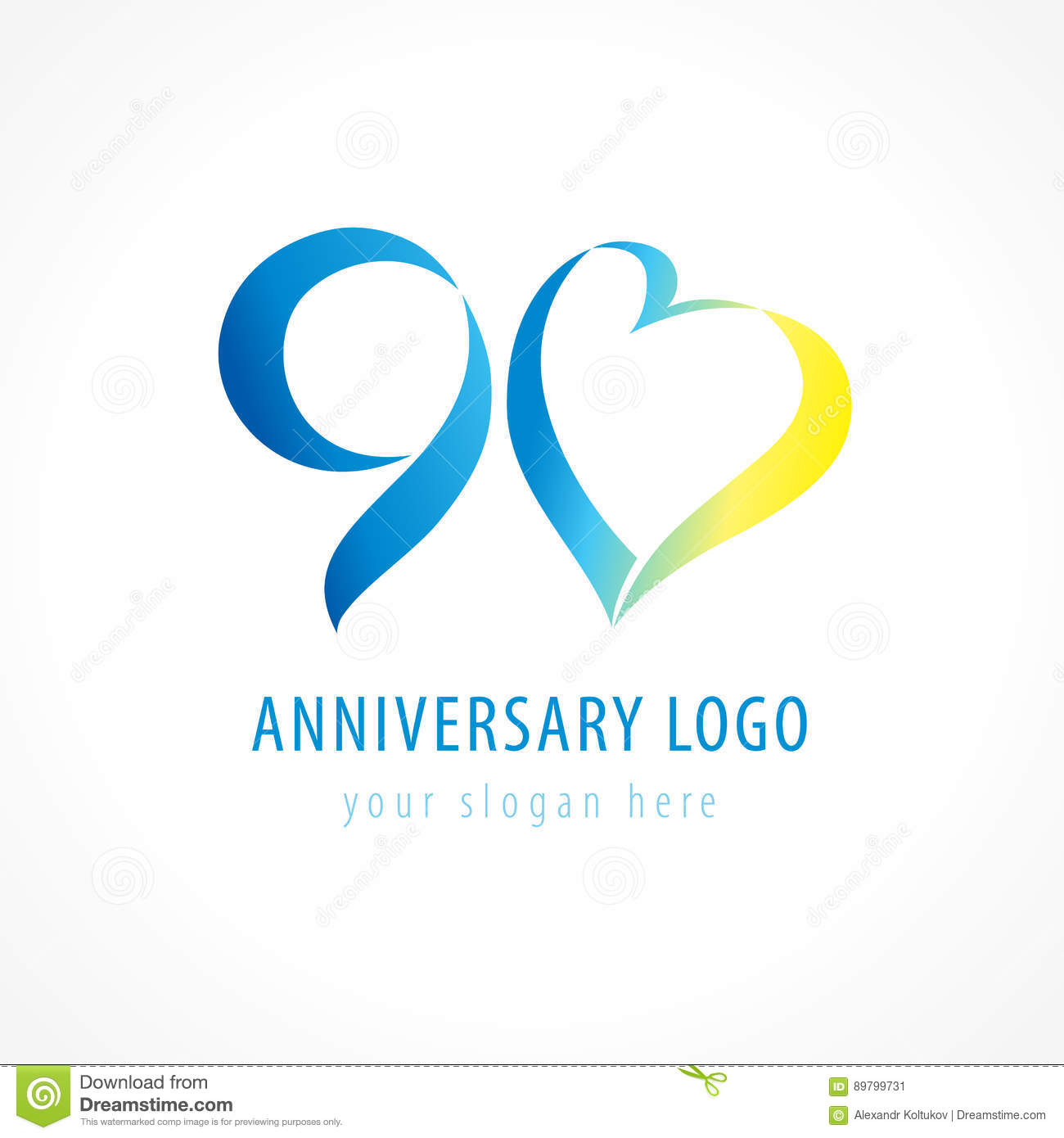 Anniversary 90 Years Old Stock Vector Illustration Of Greeting
