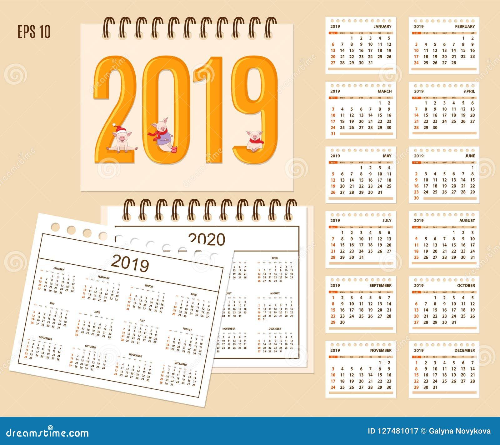 Calendario Da Scrivania 2020.Anno Civile Di Calendario Da Scrivania A Spirale 2019 2020