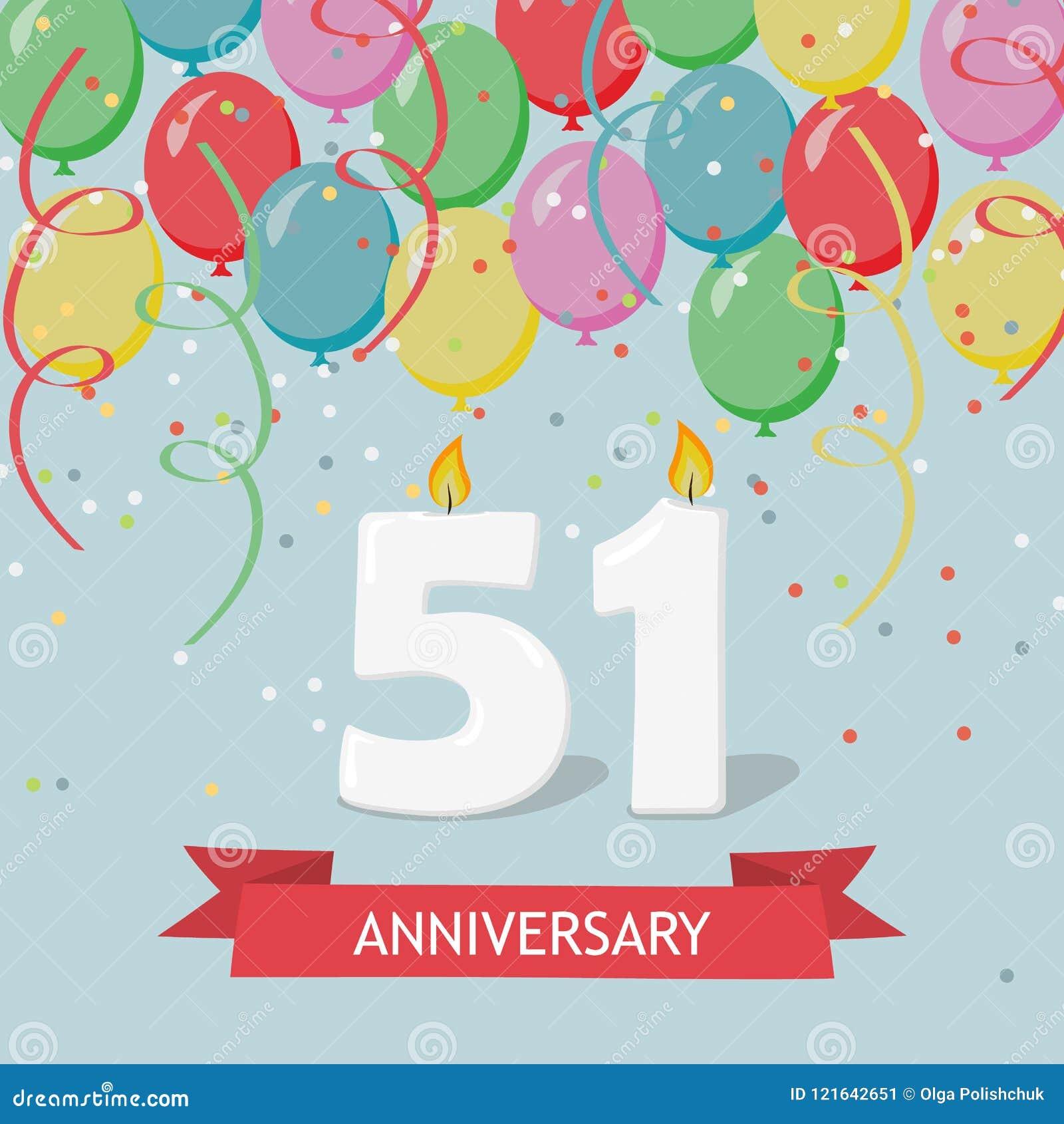 51 Anno Di Selebration Cartolina D Auguri Di Buon Compleanno