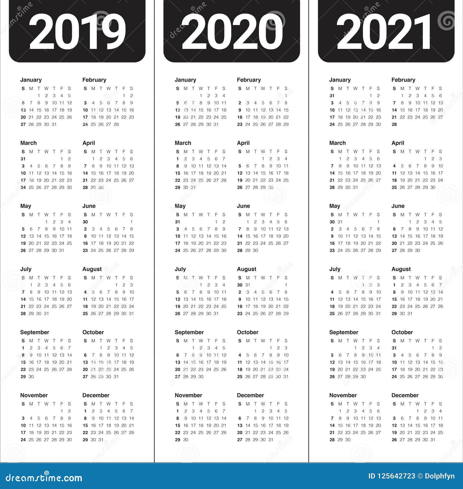 Calendario 2020 Vettoriale Gratis.Anno 2019 2020 Modello Di Progettazione Di Vettore Di 2021