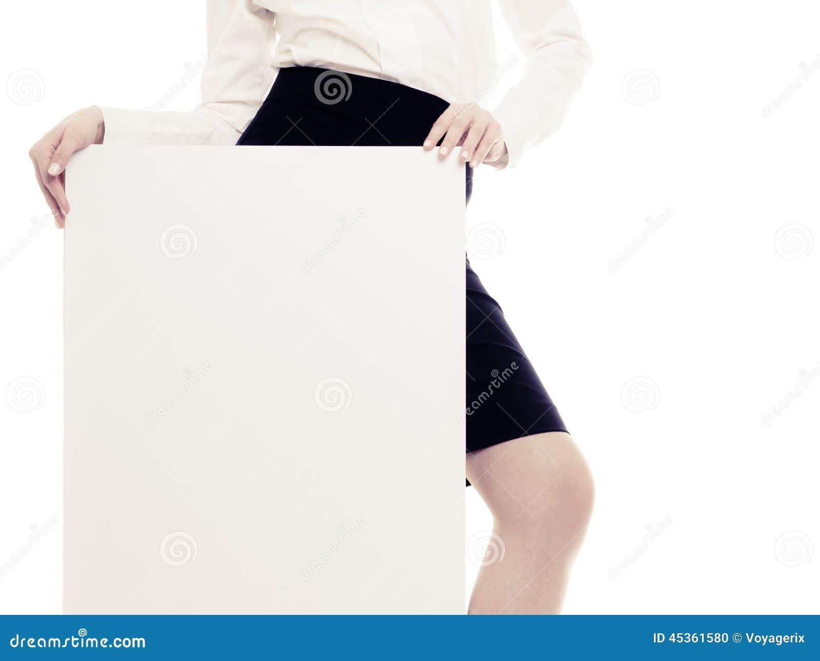 Annonce Bannière vide de l espace de copie et jambe femelle