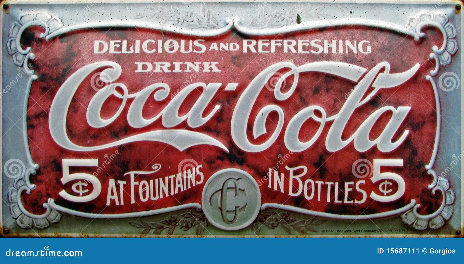 Annonce de coca-cola de cru