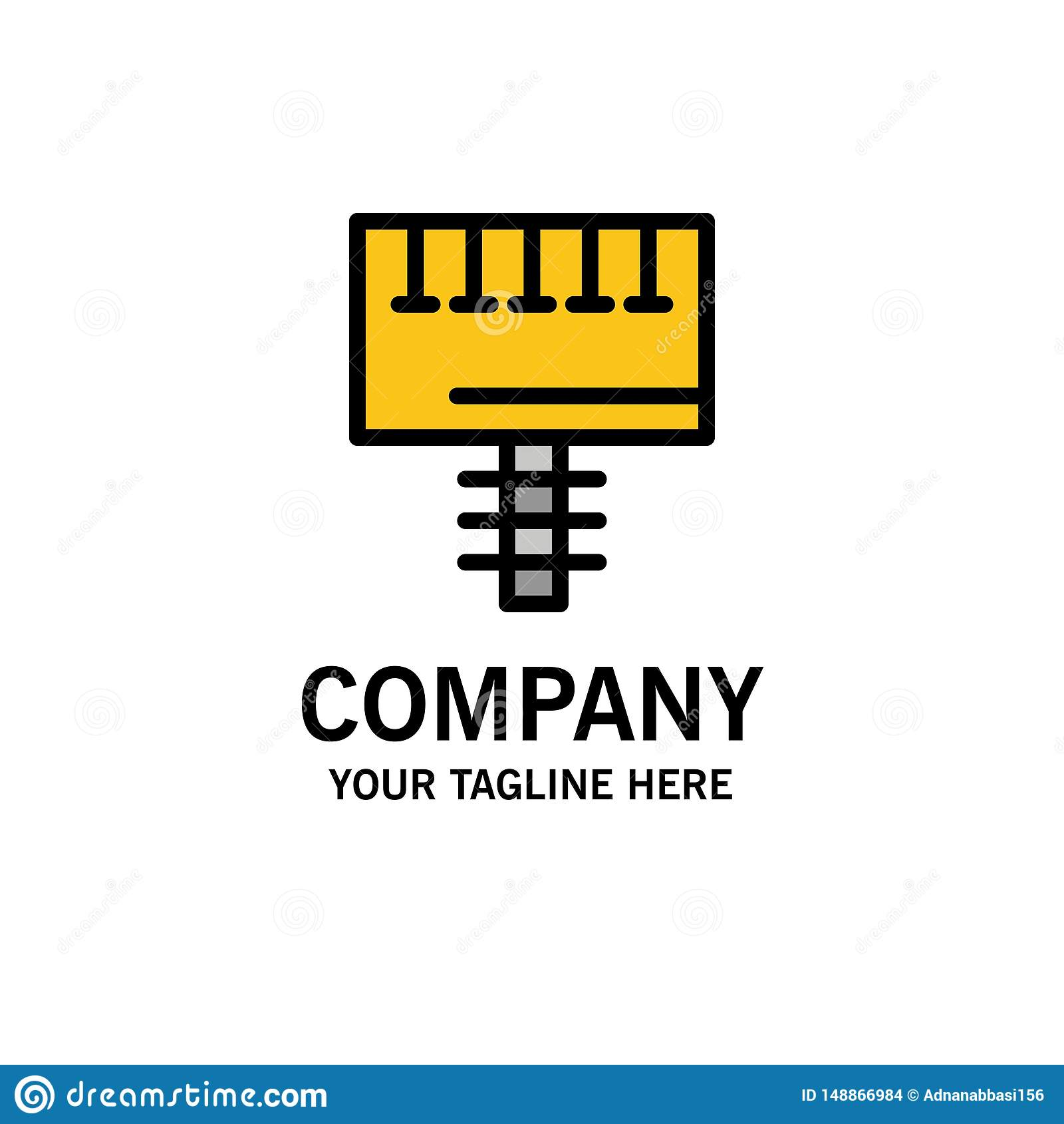 Annonce, la publicité, panneau, affaires Logo Template d enseigne couleur plate