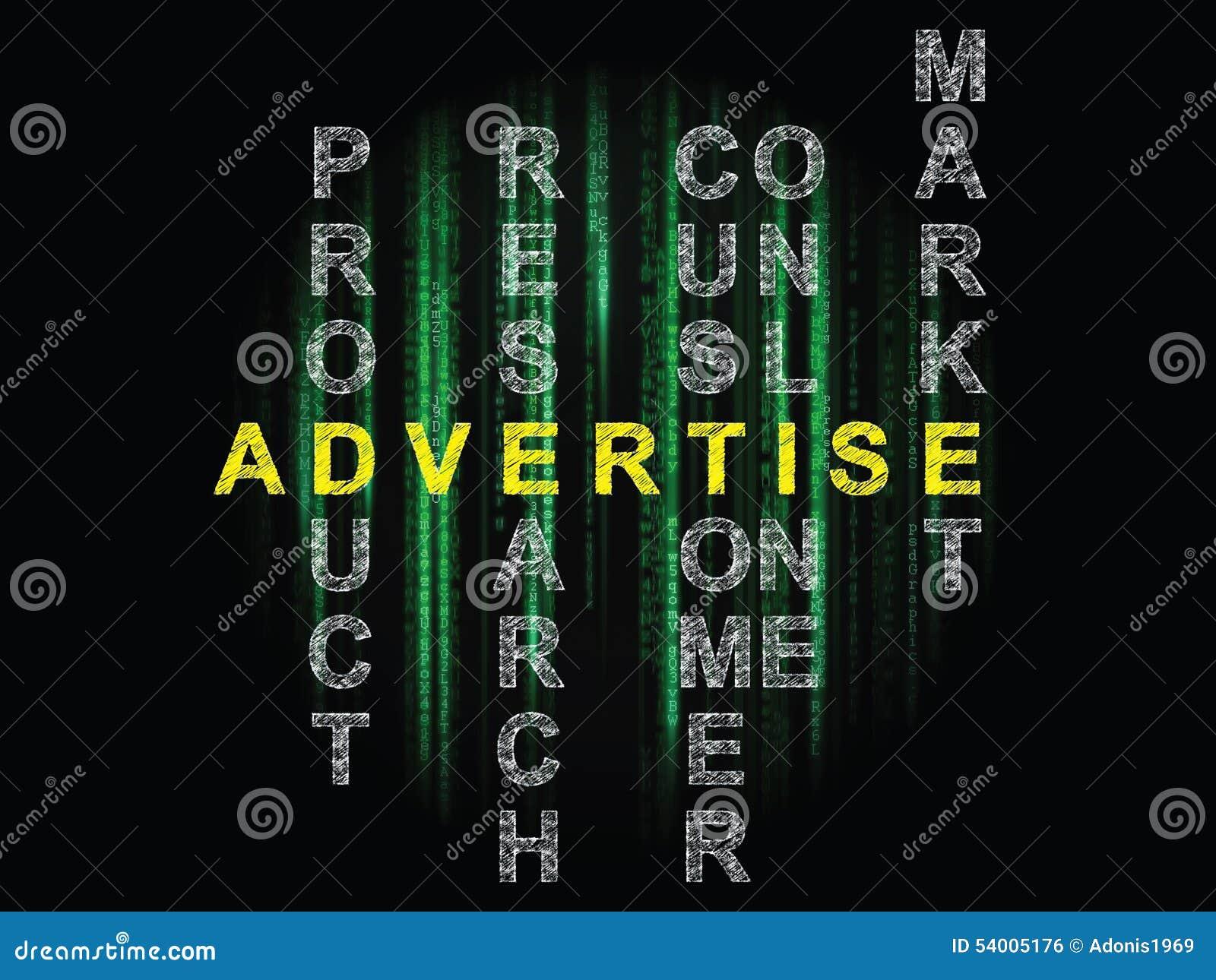 Annonserar
