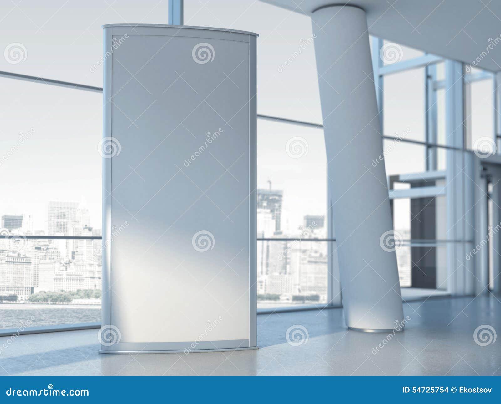 Annonsering av den blanka panelen framförande 3d