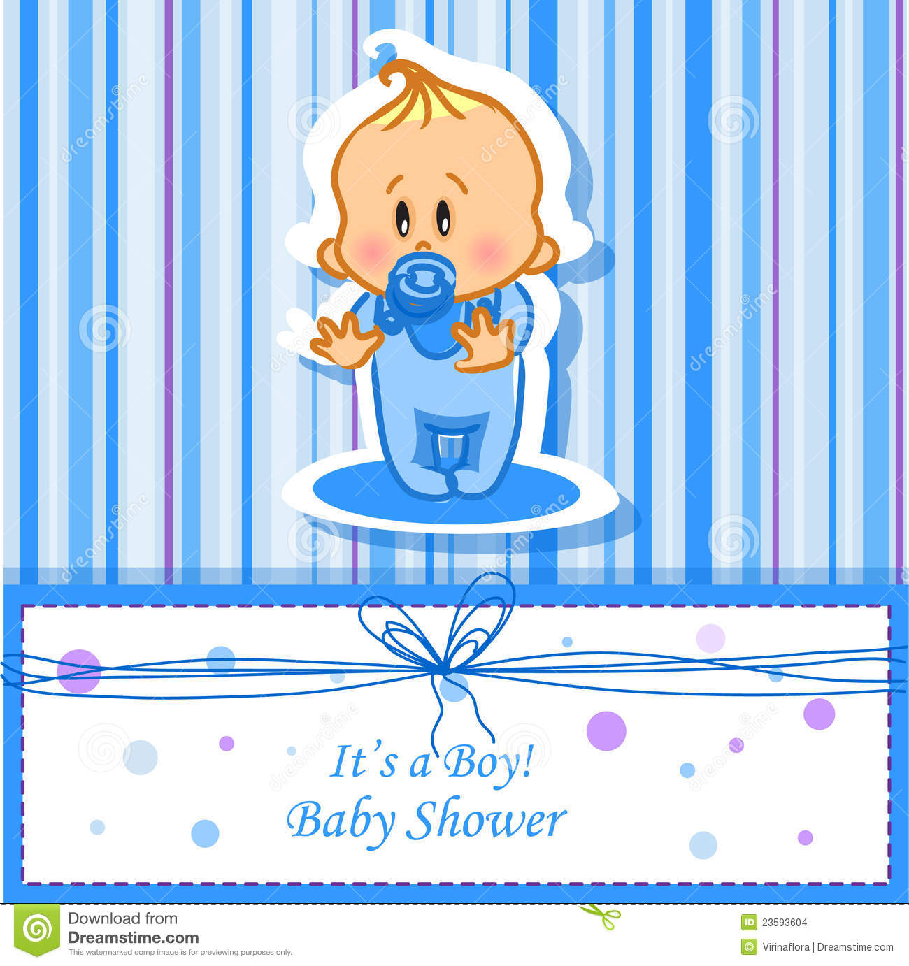 More similar stock images of ` Announcement card with baby boy,vector ...