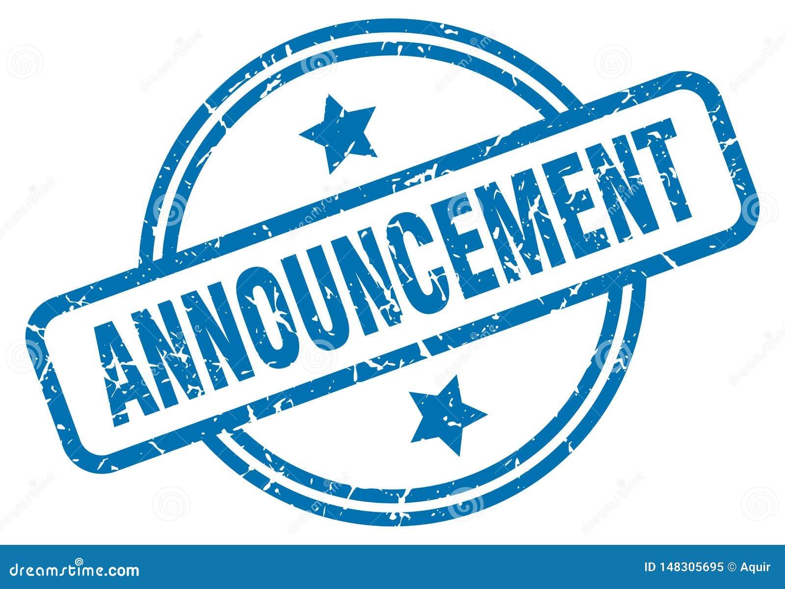 announcement stamp