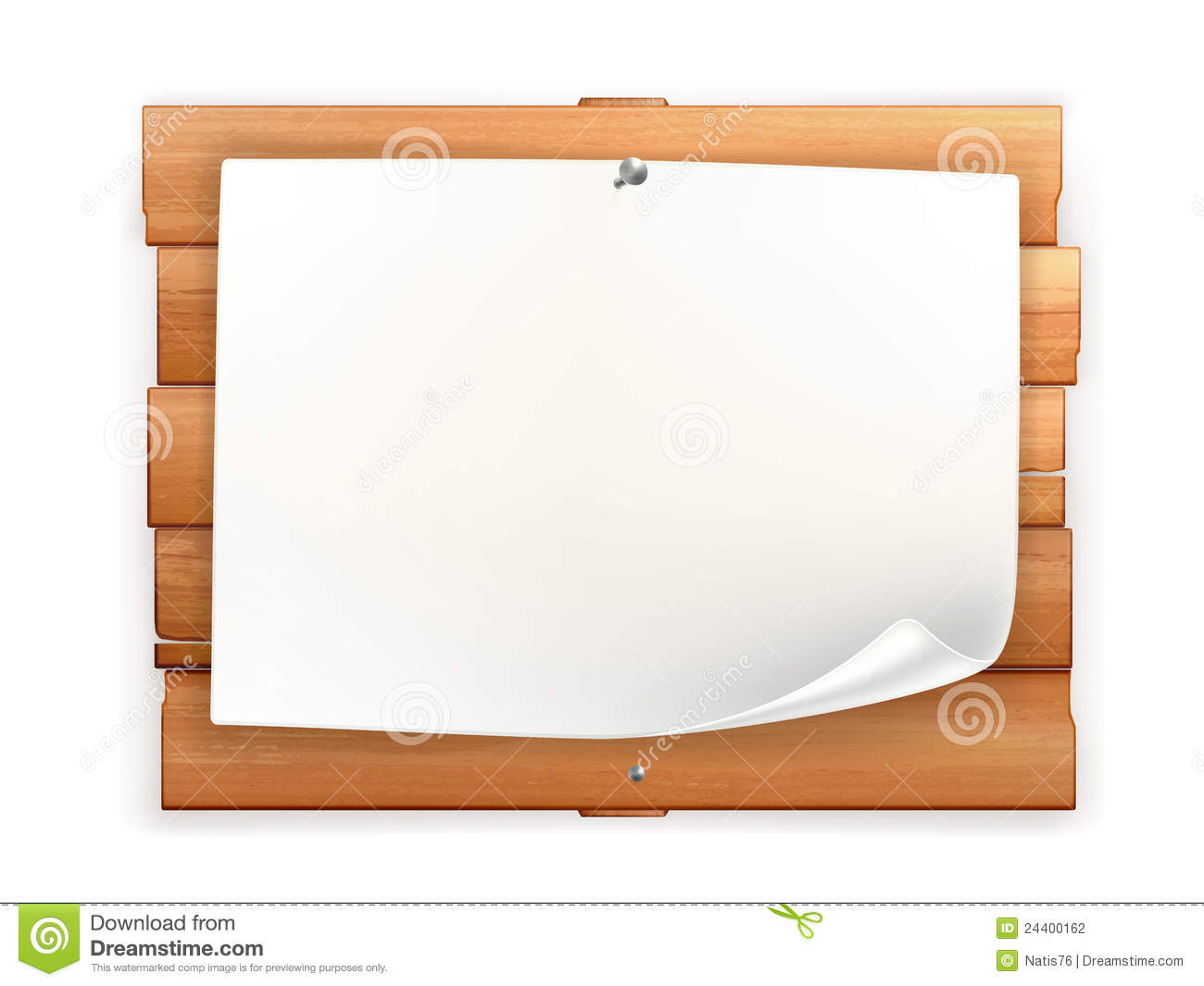 Announcement On Wooden Board Stock Photography - Image: 24400162