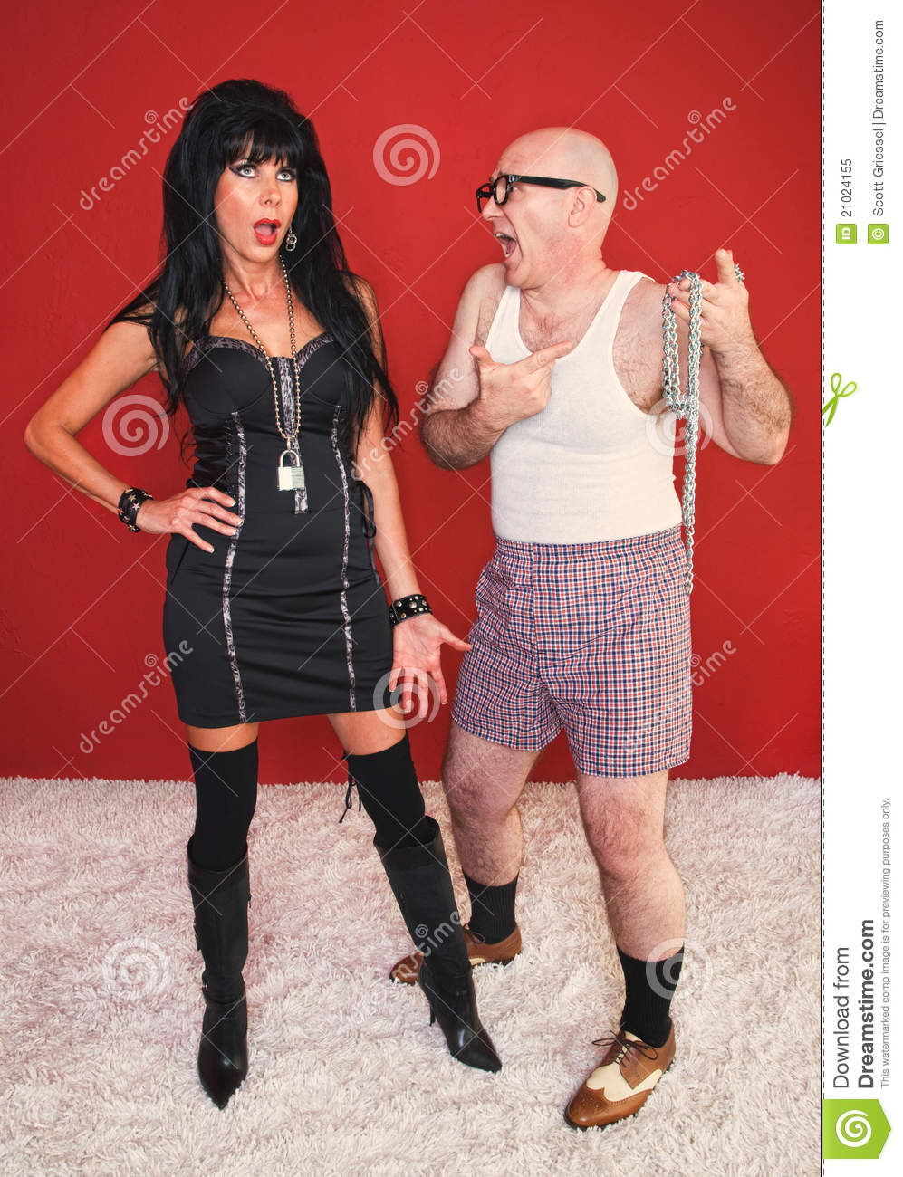 Download Annoyed Dominatrix And Client Stock Image - Image of gothic, isolated: 21024155