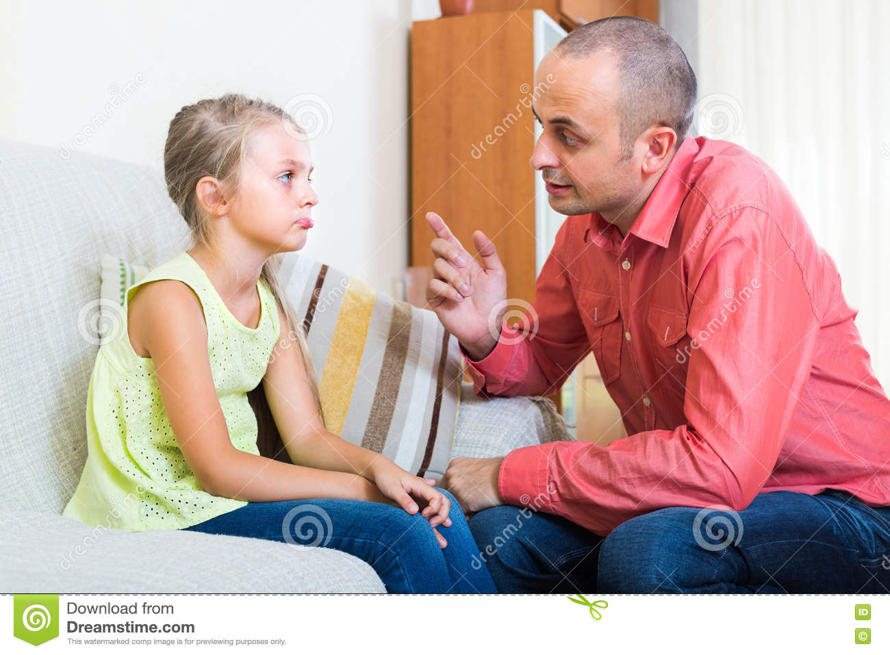 Frustrated Child And Parent