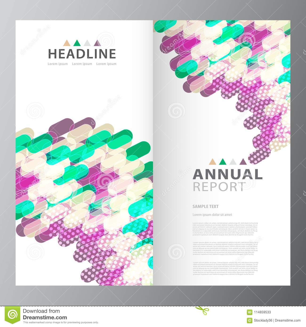 annual business report template design stock vector illustration
