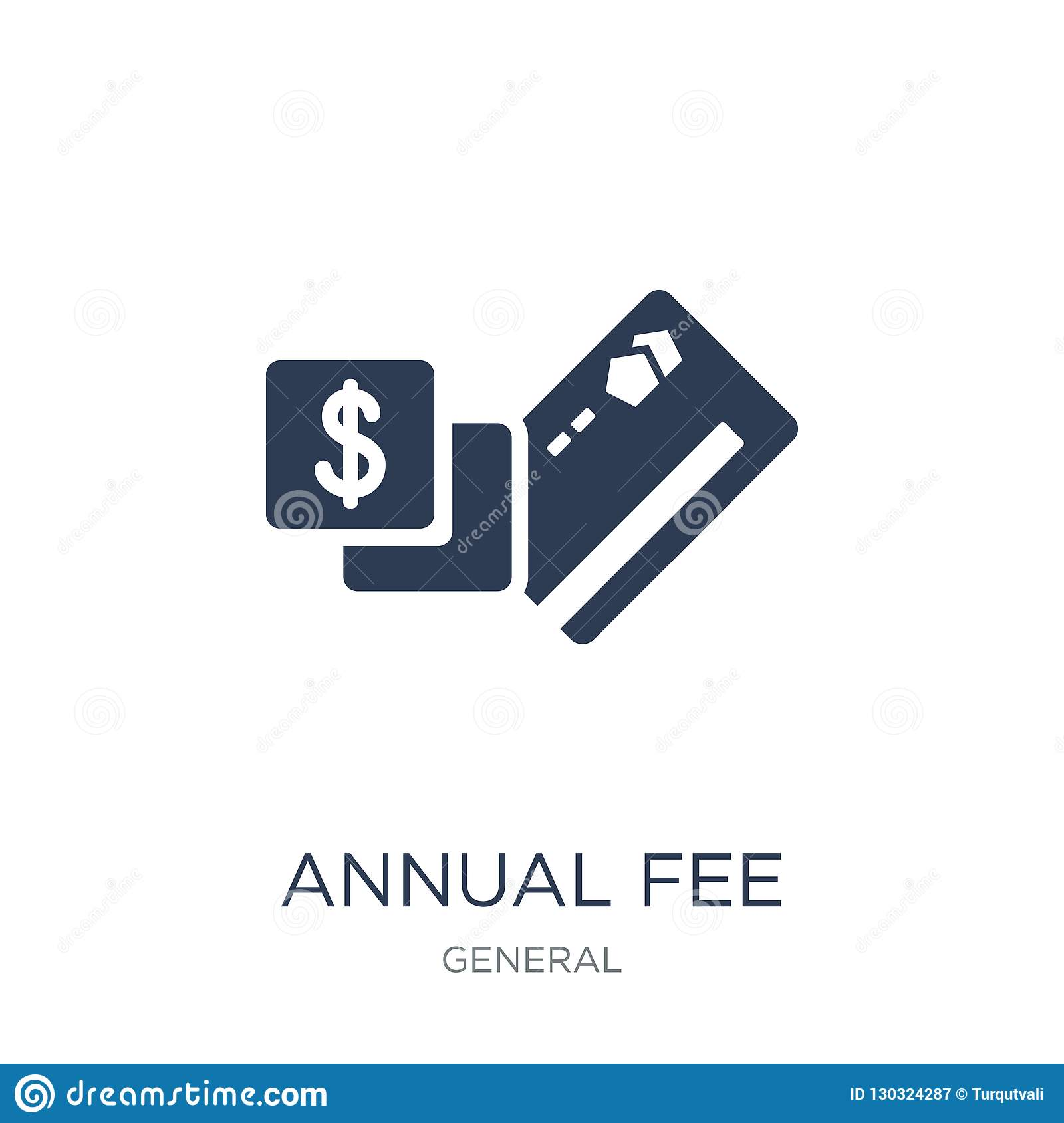 Annual Fee Icon. Trendy Flat Vector Annual Fee Icon On