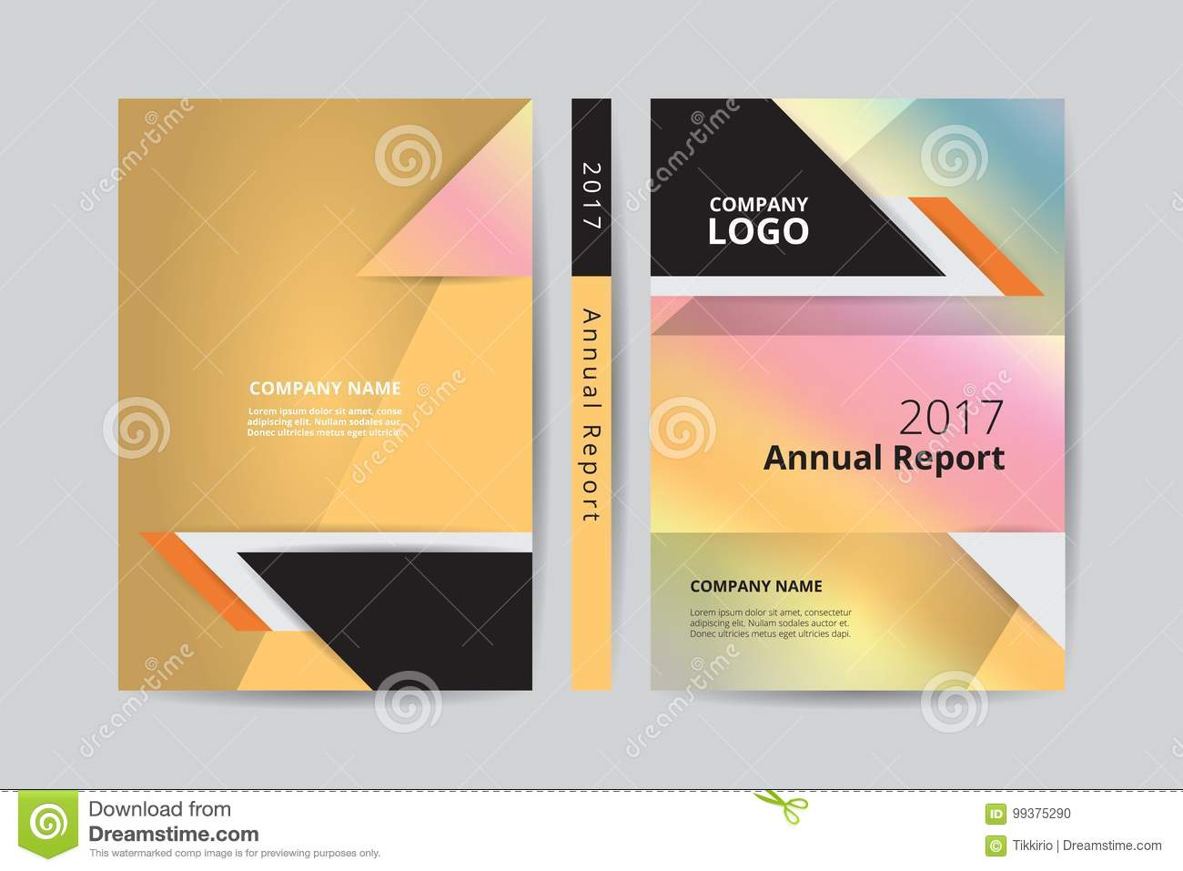 Book Cover Template Front And Back : A annual report book design front and back gold